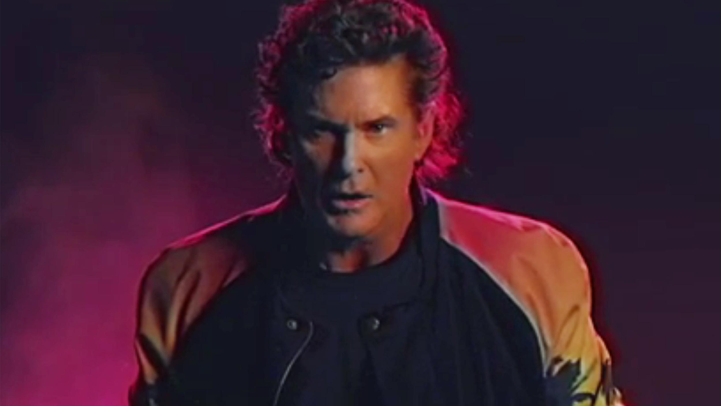 David Hasselhoff sings 'True Survivor' in kooky music ...