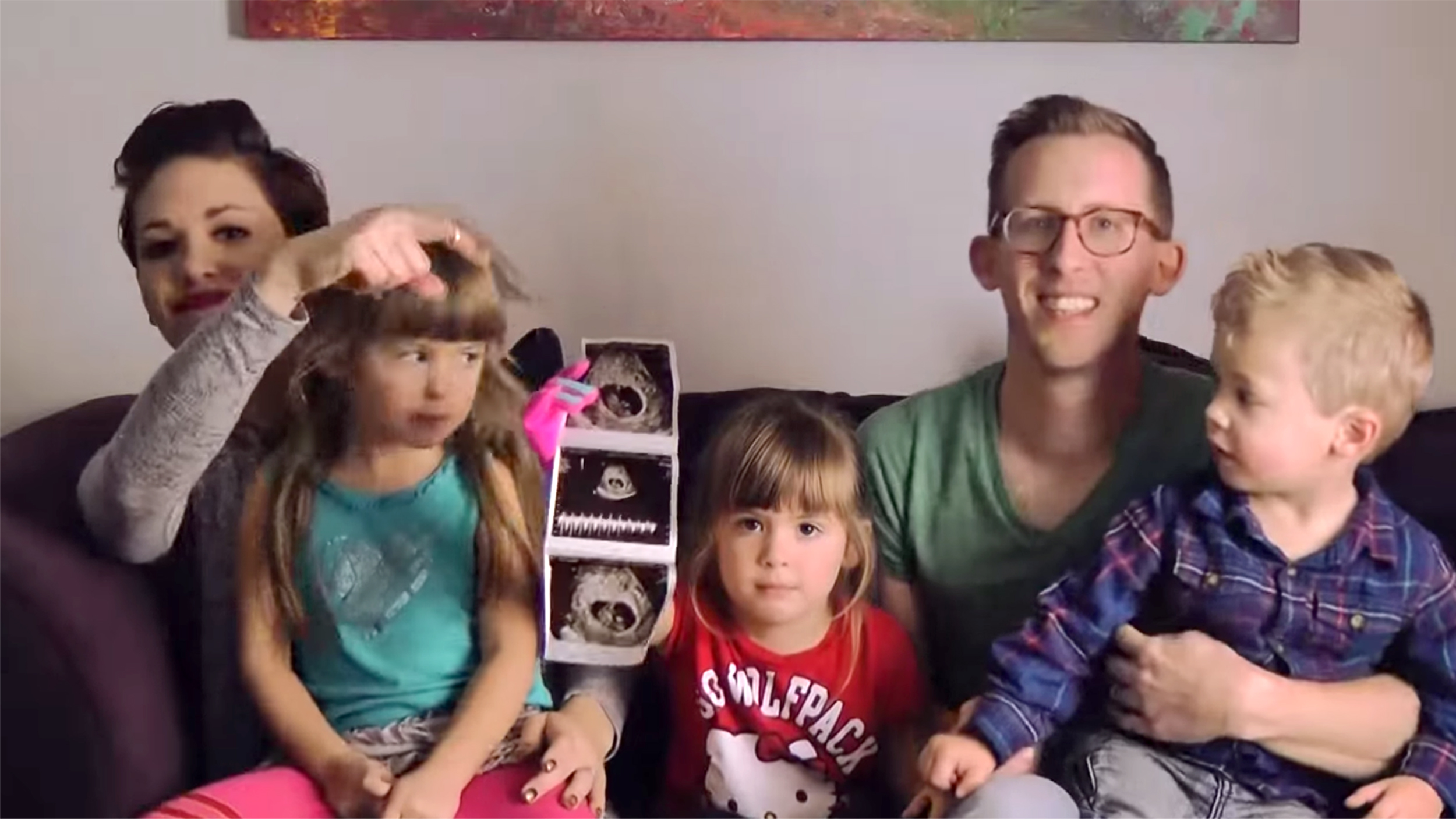 we cant stop watch hilarious pregnancy announcement