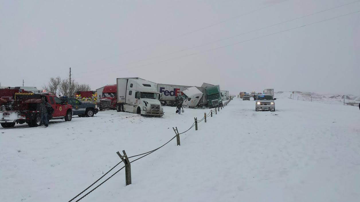 SOMETIMES IT SNOWS IN APRIL: Blizzard Causes 70-Vehicle Pile-Up in Wyoming