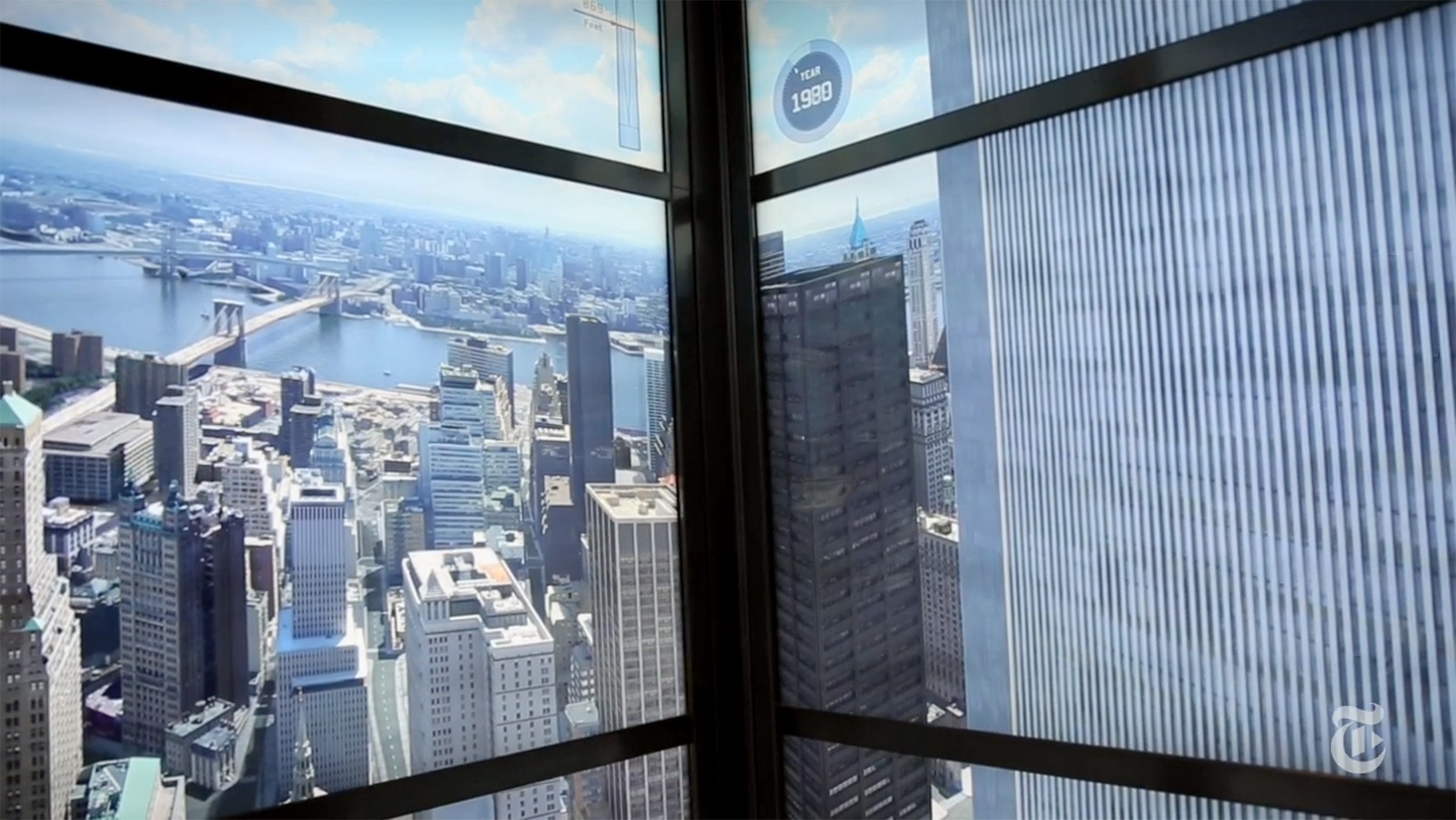 Dramatic elevator time-lapse at new World Trade Center observatory includes Twin Towers