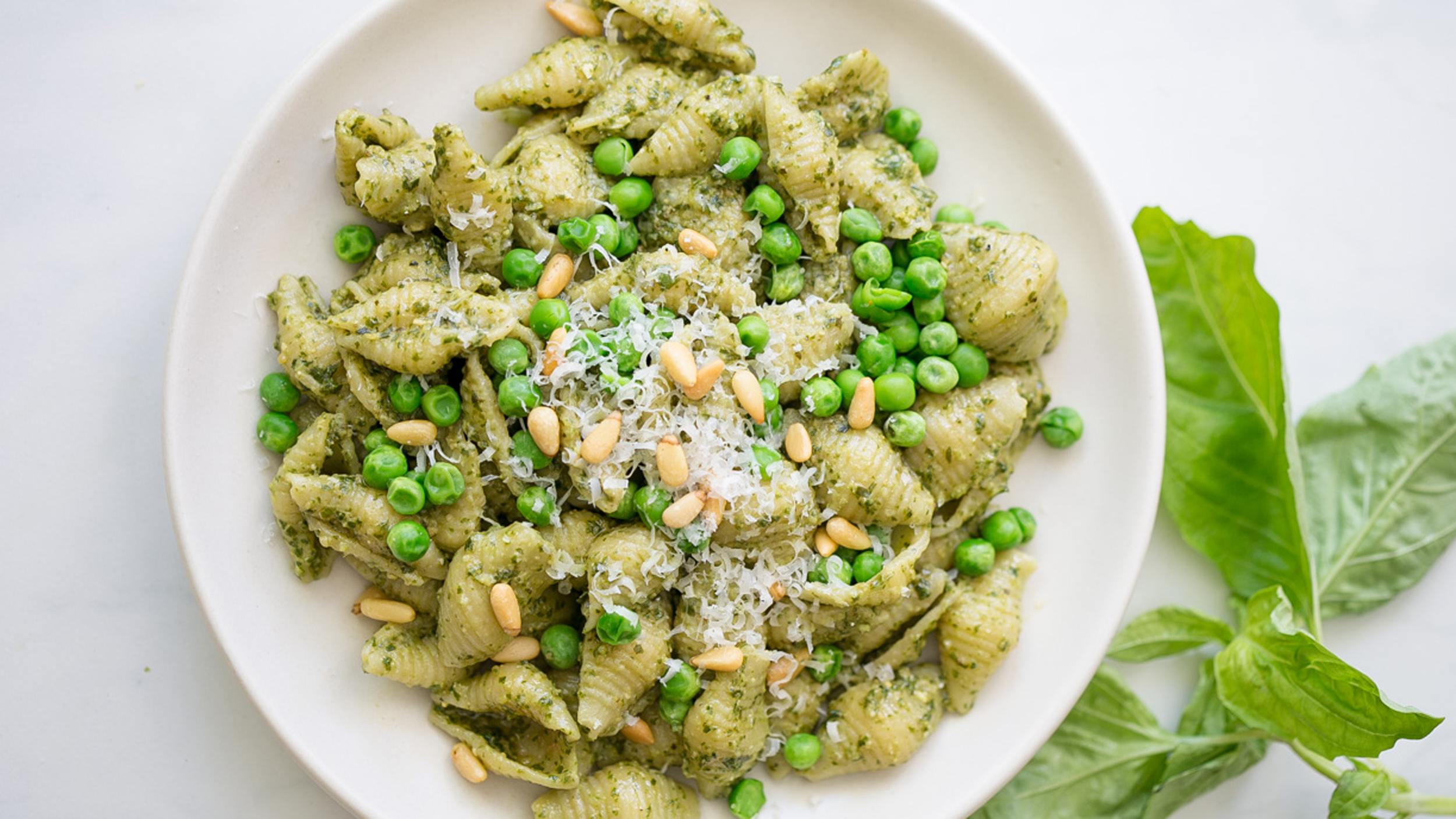 Use up that basil with super easy pasta with pesto and ...
