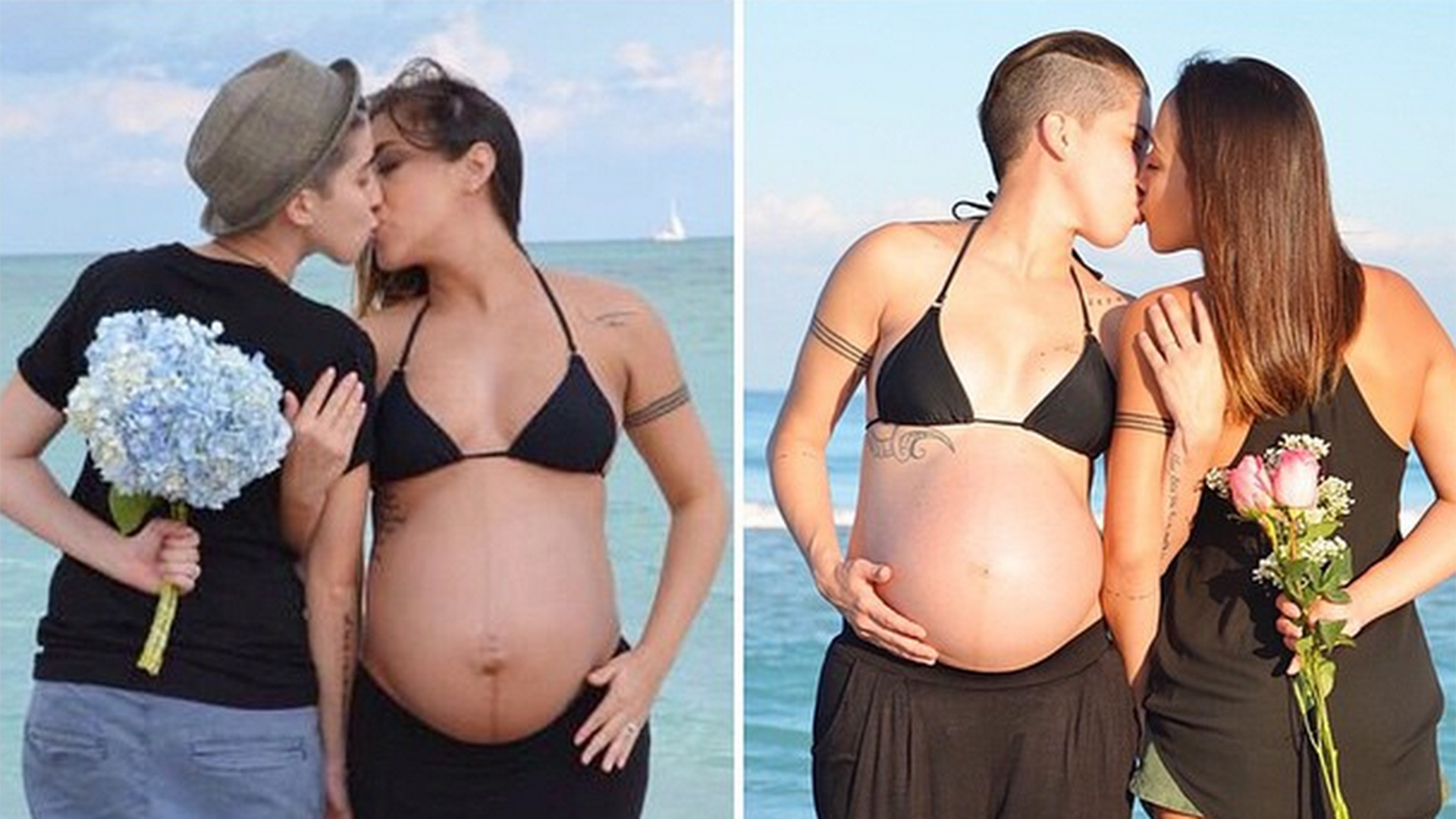 Lesbian couple's side-by-side pregnancy photos go viral ... Hayden Panettiere Rumors
