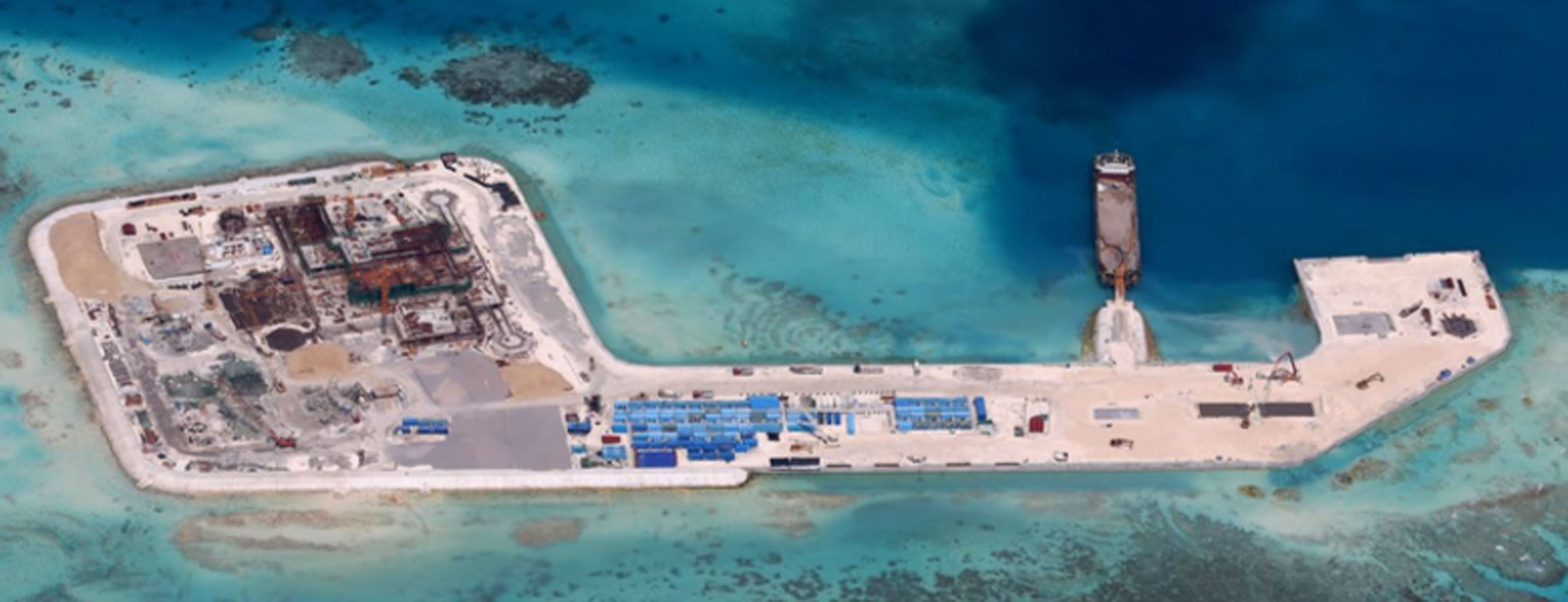 philippines shows photos of china s island building work in spratlys