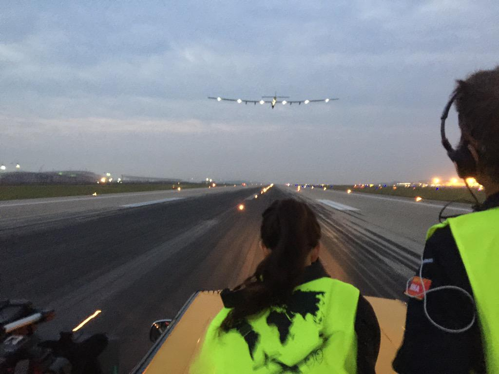 Solar Impulse Plane Lands in Nanjing: Next Stop, Hawaii