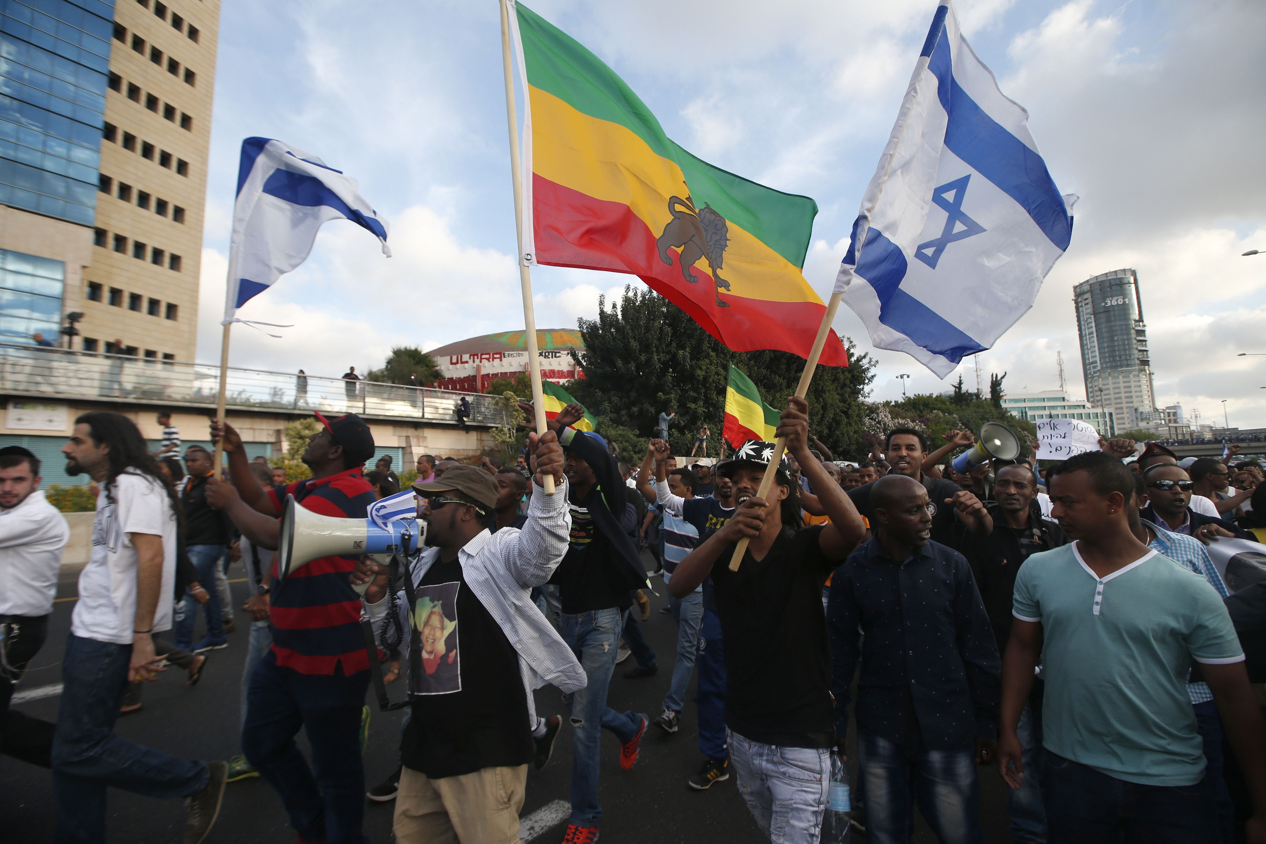 Image: ISRAEL-ETHIOPIA-DEMONSTRATION