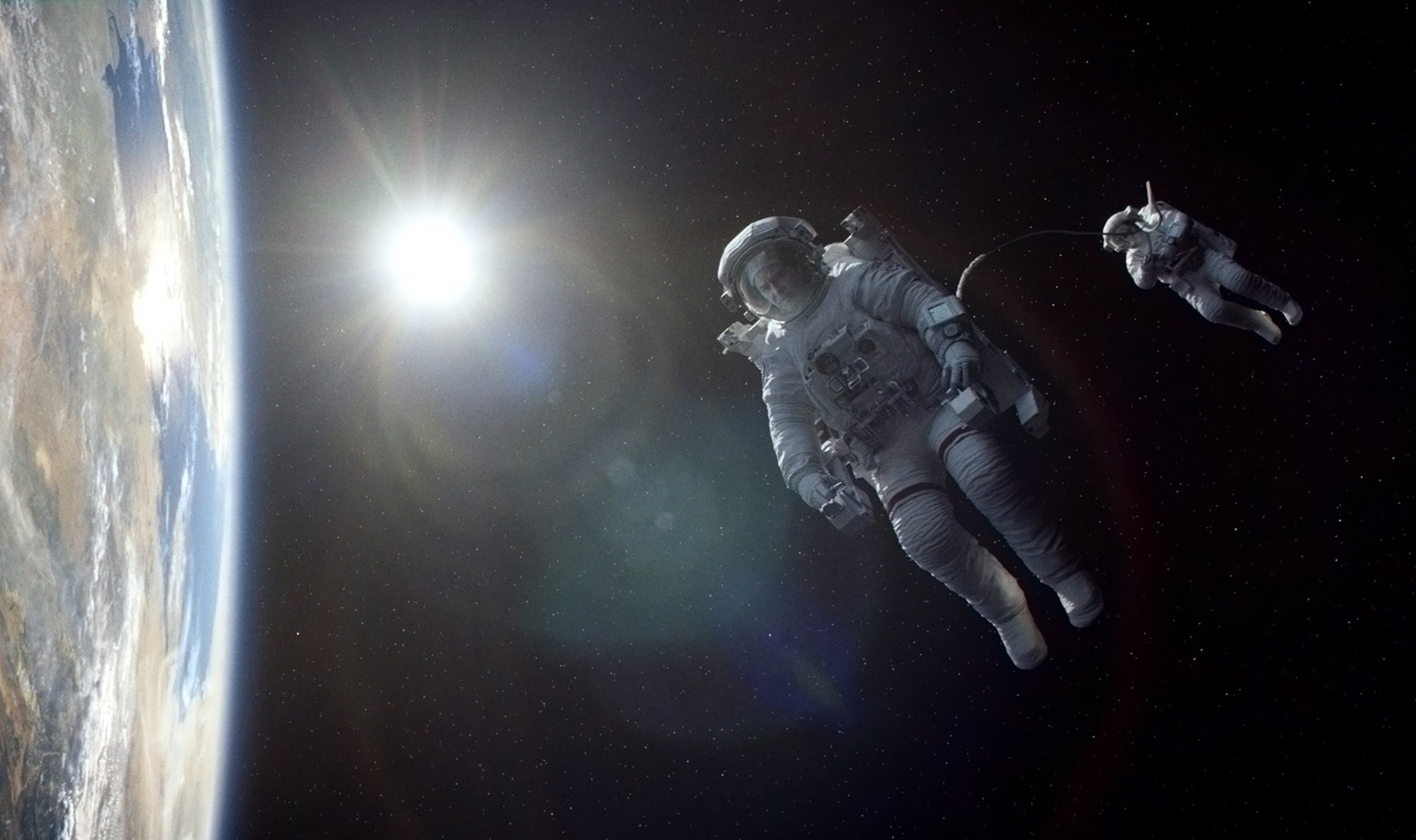 Astronauts Take In 'Gravity'