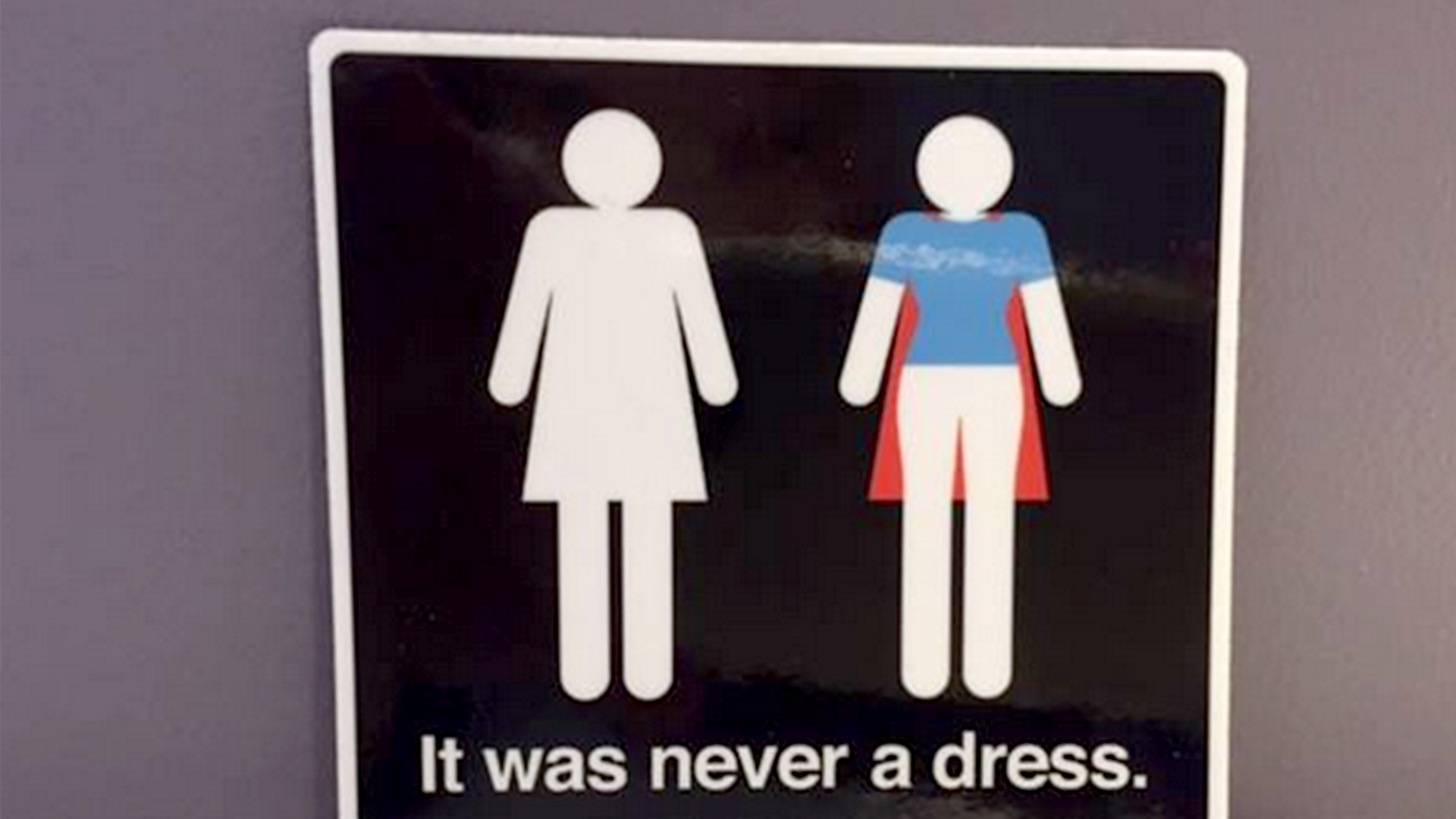 It was never a dress   Women s bathroom symbol gets a clever update ... f0d62cdc0f5d7