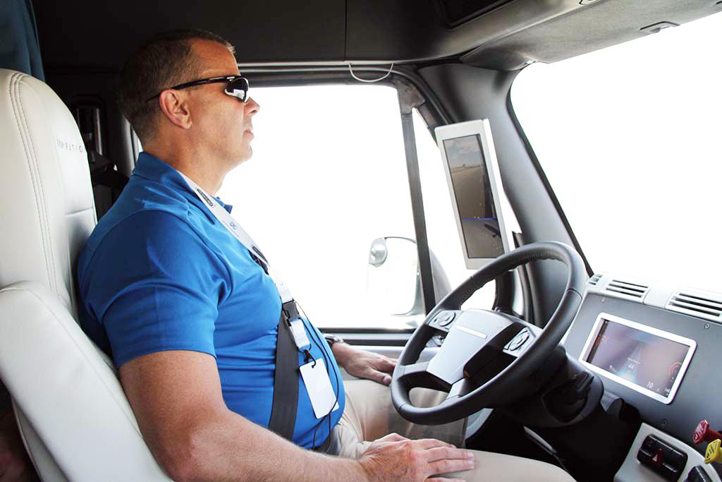 Image: Freightliner driver