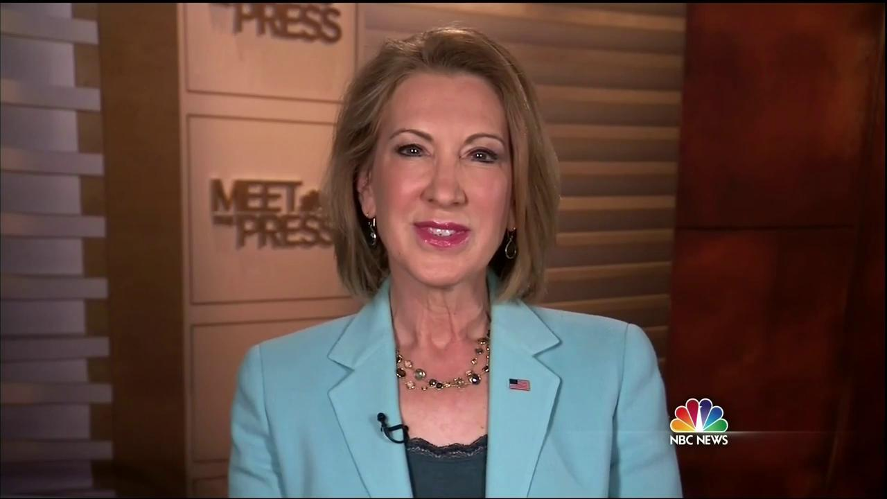 meet the press and carly fiorina