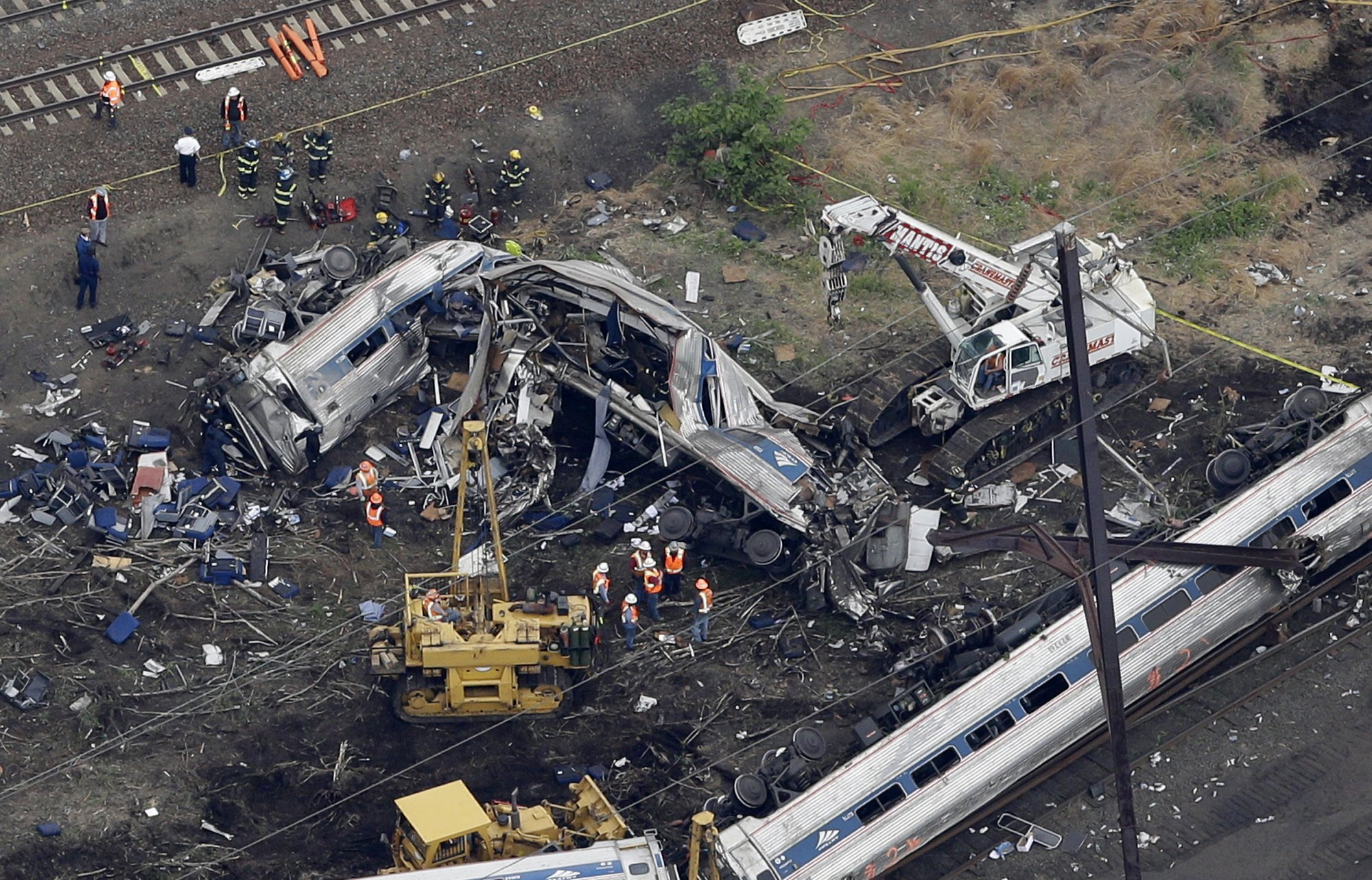 service of reflection held at site of amtrak train