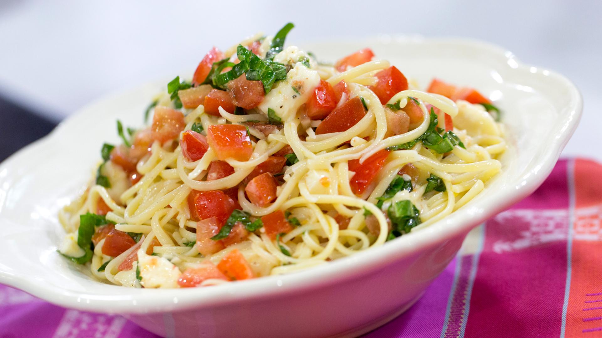 Katherine Heigl S Brie Tomato Pasta Today Com