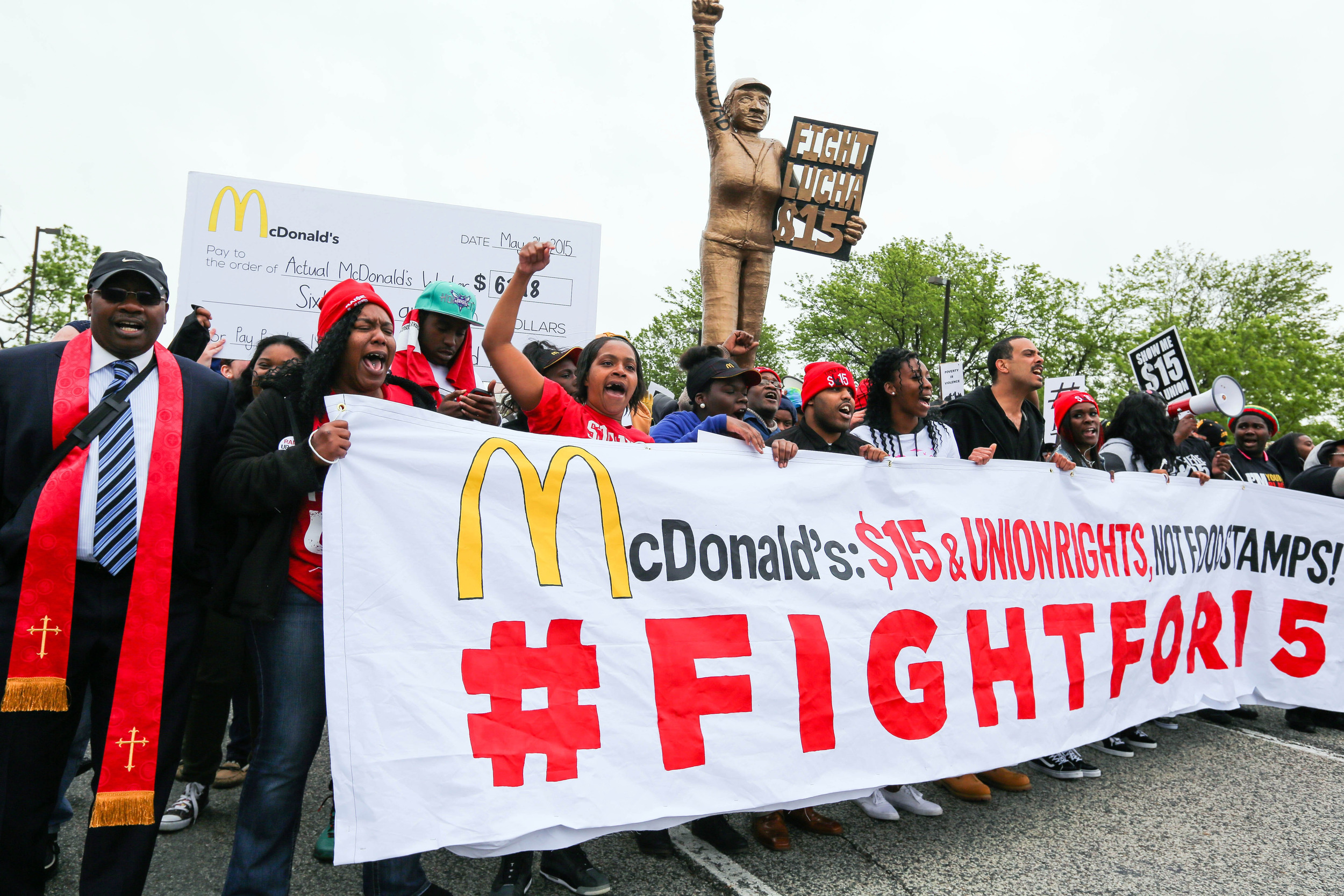 Nike inc s bumpy q1 earnings ahead risk or opportunity fox - Not Lovin It Hundreds Protest At Mcdonald S Hq Over Wages