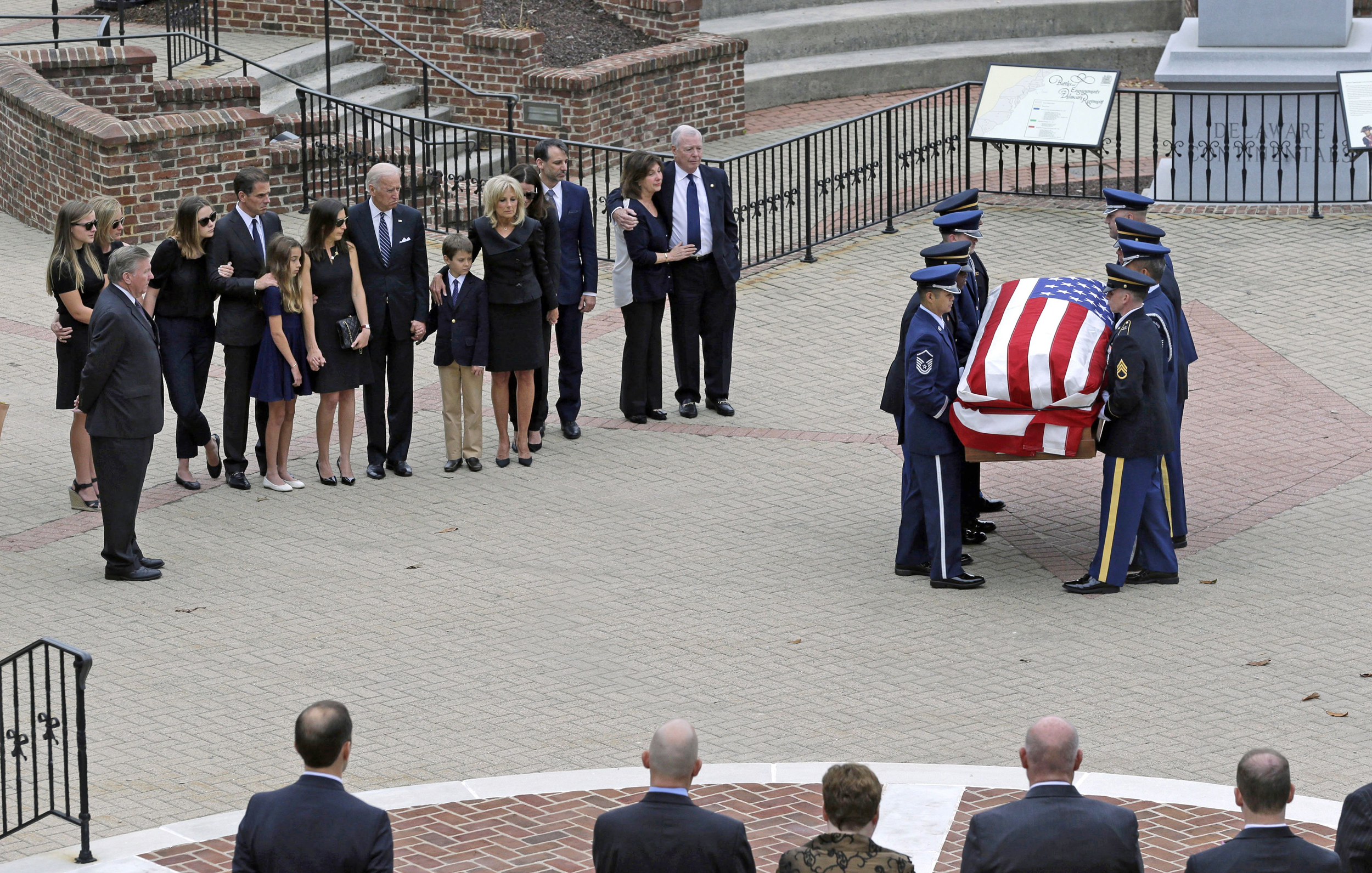 Mourners Pay Respects To Beau Biden In Delaware