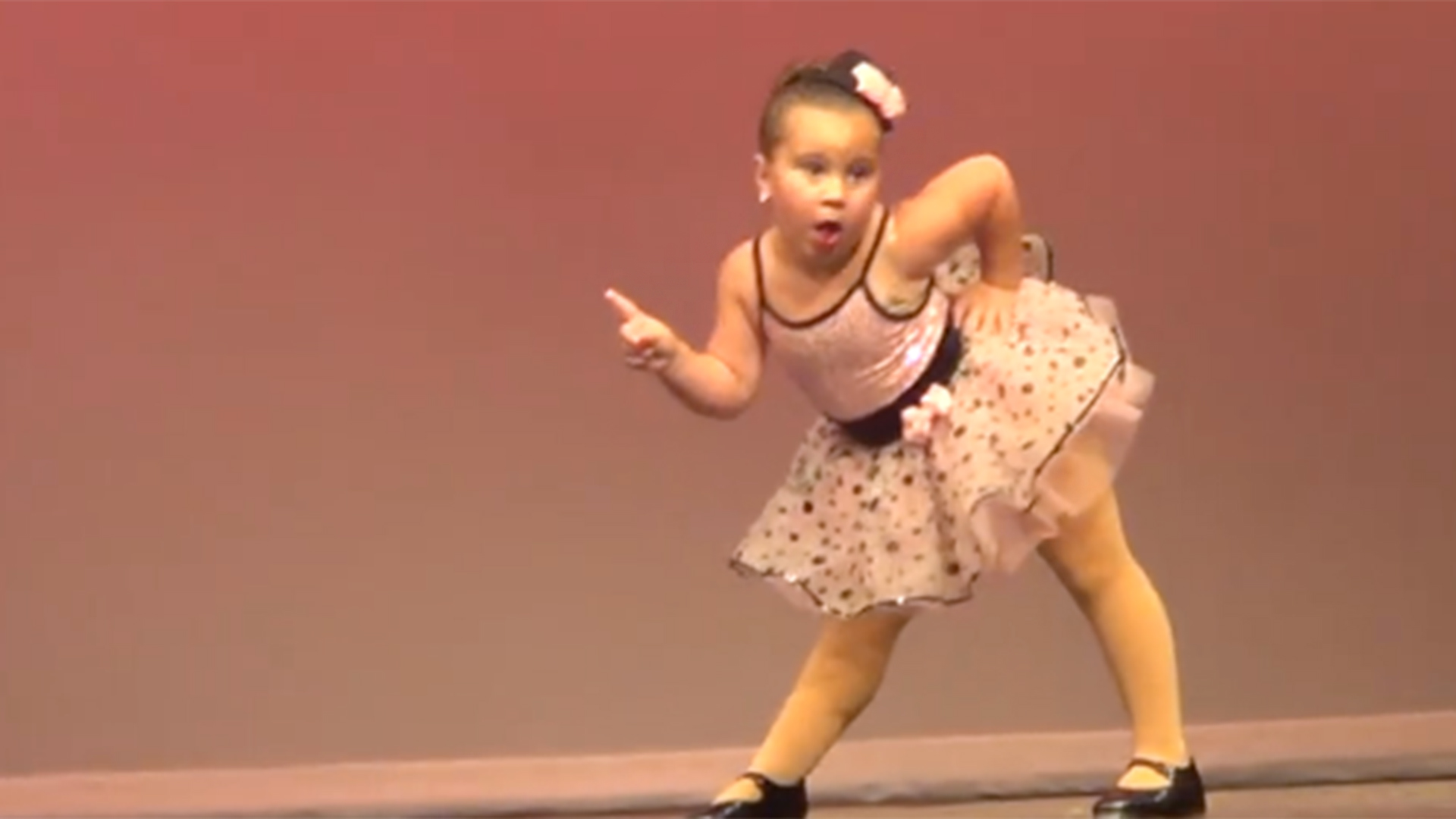 little girl dances to aretha franklin s respect in recital