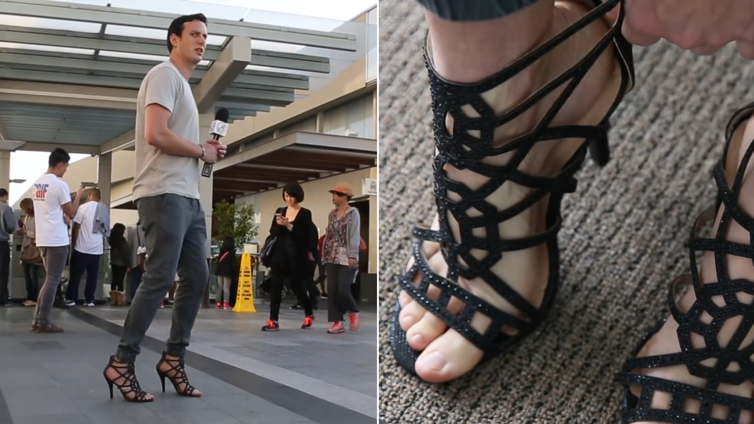 Man tries wearing high heels for a day, learns it's hard - TODAY.com