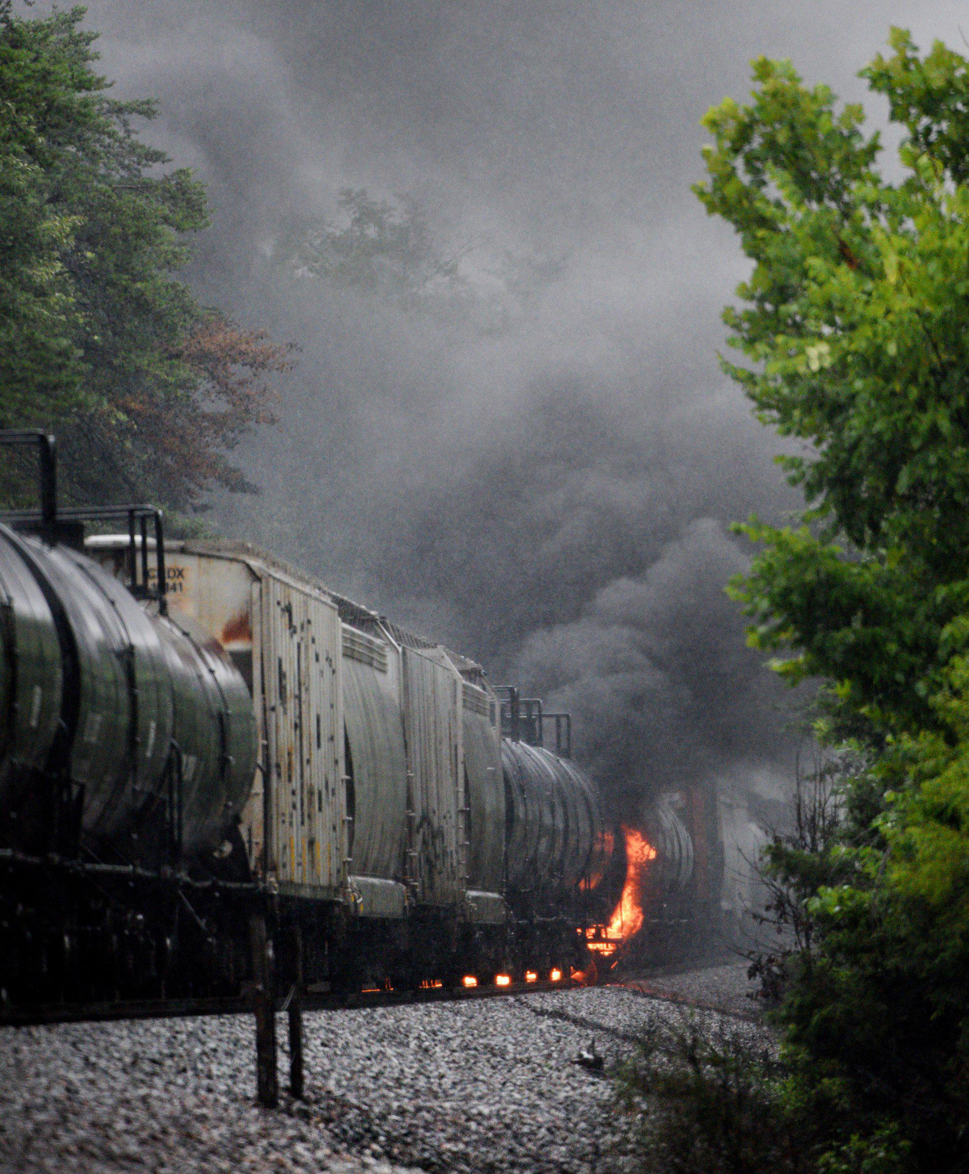 Thousands Can Return Home After Fiery Train Derailment