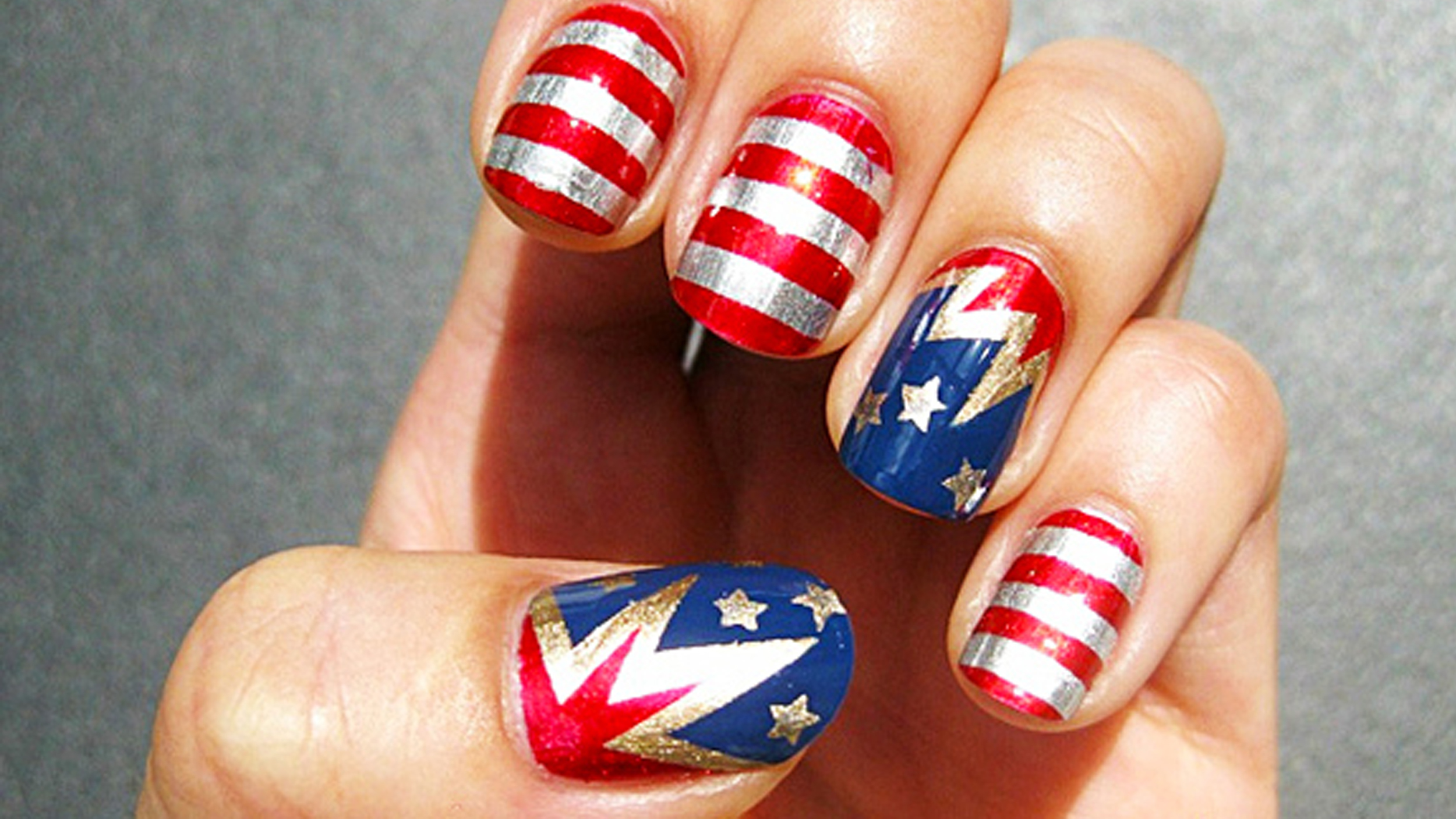 Fourth of July nail art ideas: Red, white and sparkle!