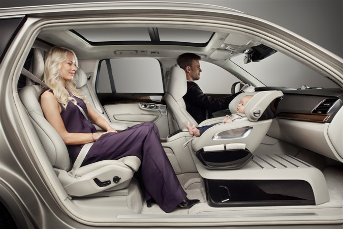 Volvo S New Concept Puts Child Car Seat In Front Seat