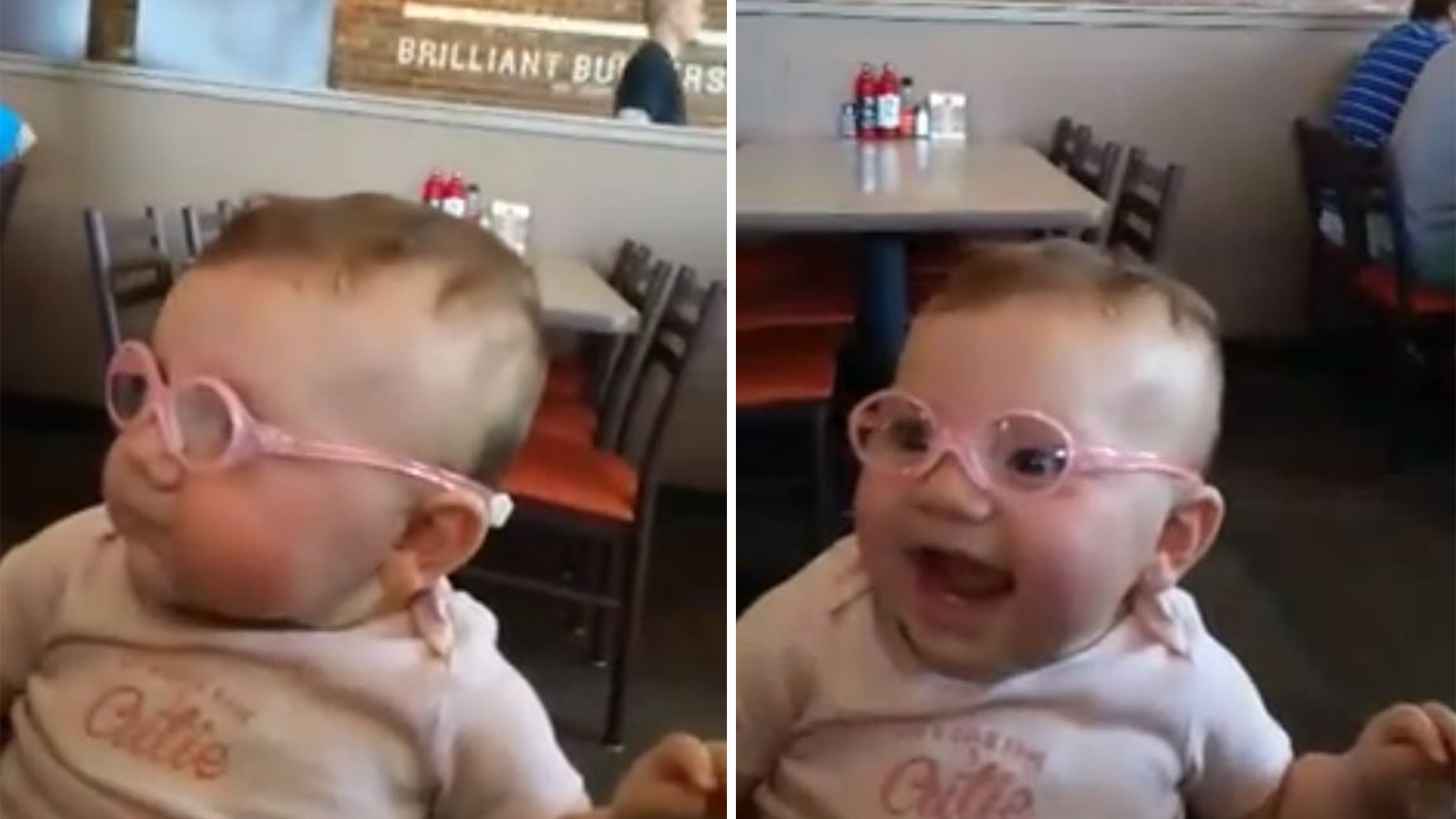bfdf81ff1424 Watch this baby s adorable reaction to seeing clearly for the first time