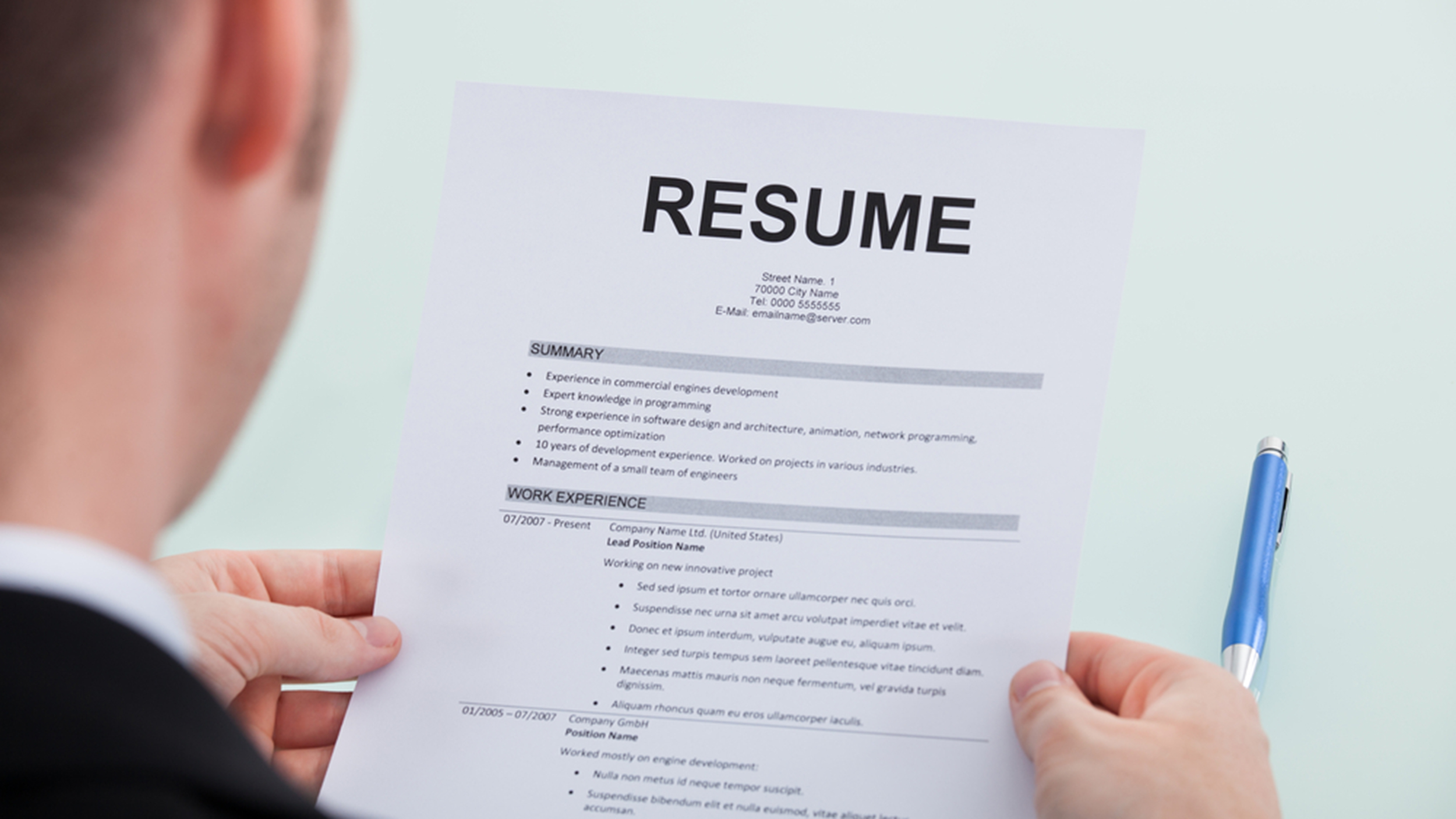 resume writing all wrong man lists his failures and the results