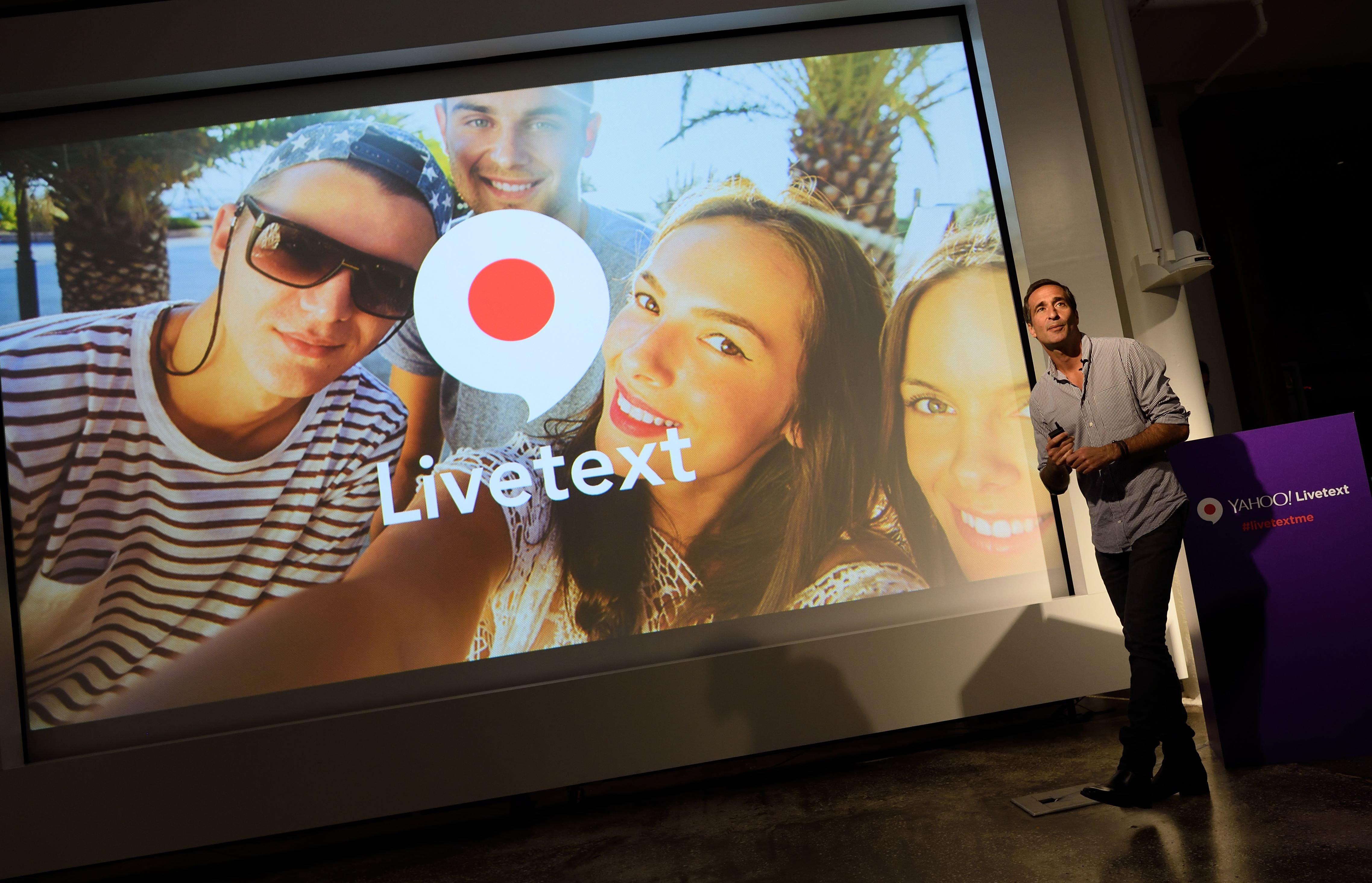 Yahoo Unveils Silent Video Messaging App Livetext