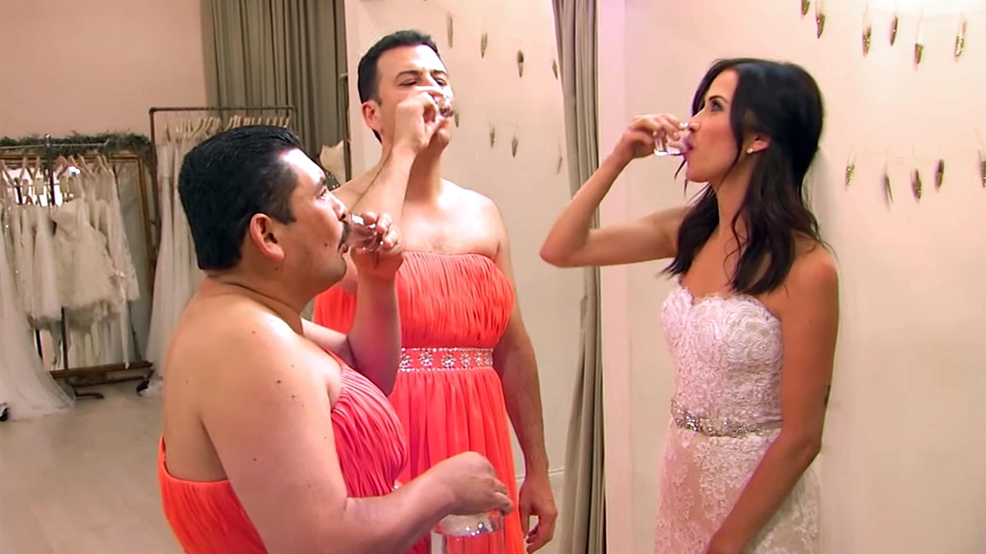 Bachelorette Kaitlyn Bristowe Shops For Wedding Dress With Jimmy Kimmel