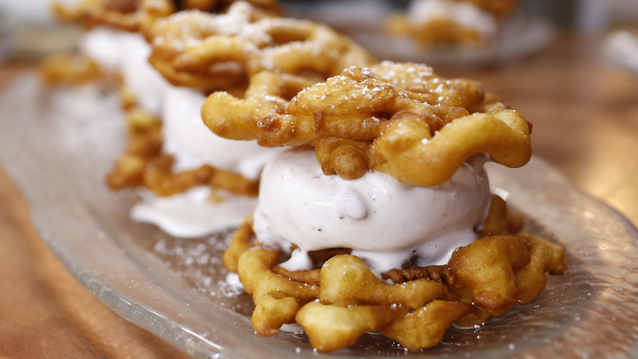 Funnel Cake Ice Cream Sandwich Today Com