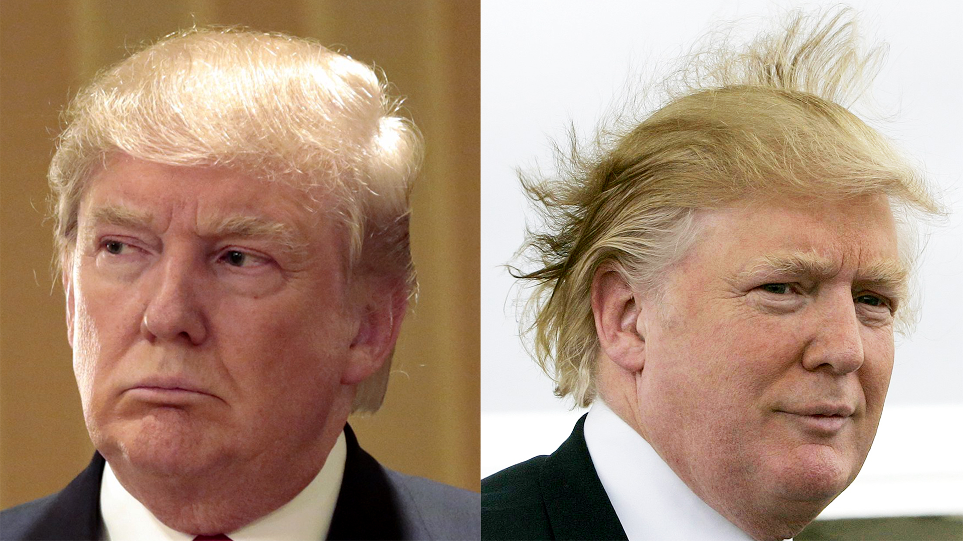 Donald Trump's hair: Defended and explained in his own ...