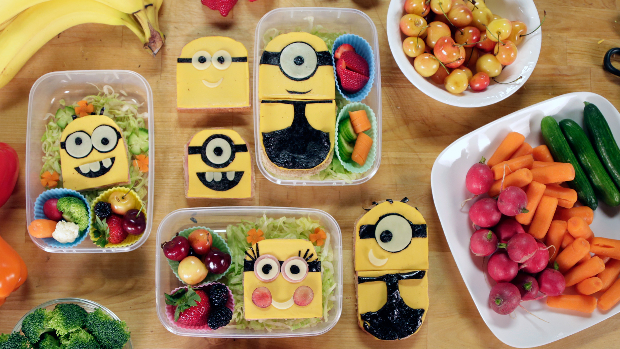 Delight Your Kids With Adorable Sandwiches Minions Pb Amp J