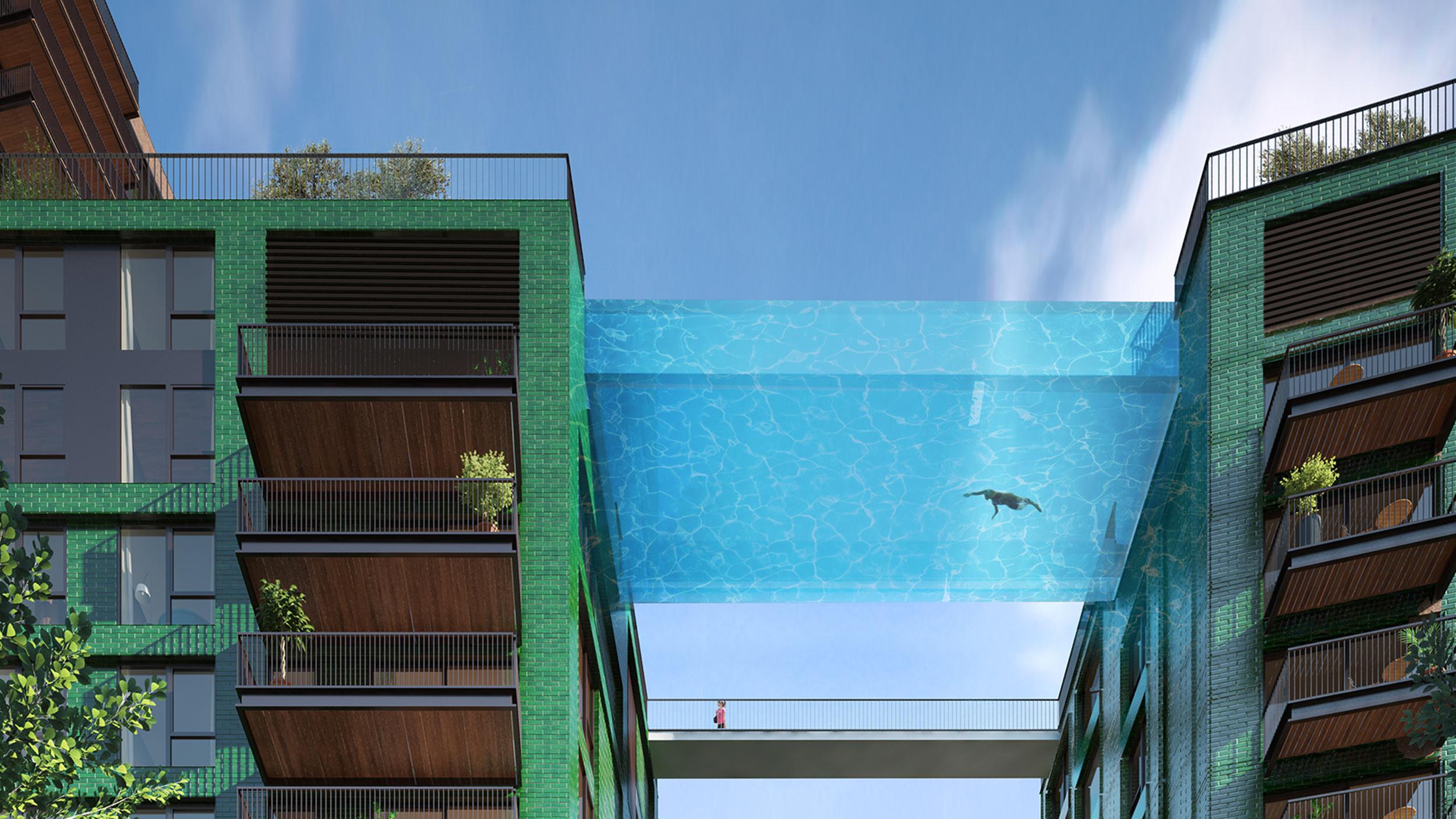 london 39 s transparent 39 sky pool 39 lets swimmers see 10. Black Bedroom Furniture Sets. Home Design Ideas