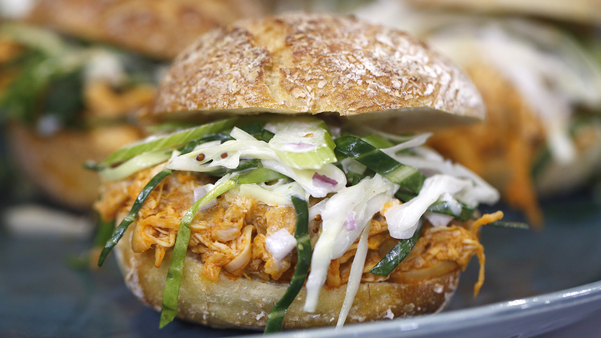 recipe: easy buffalo chicken sliders [28]