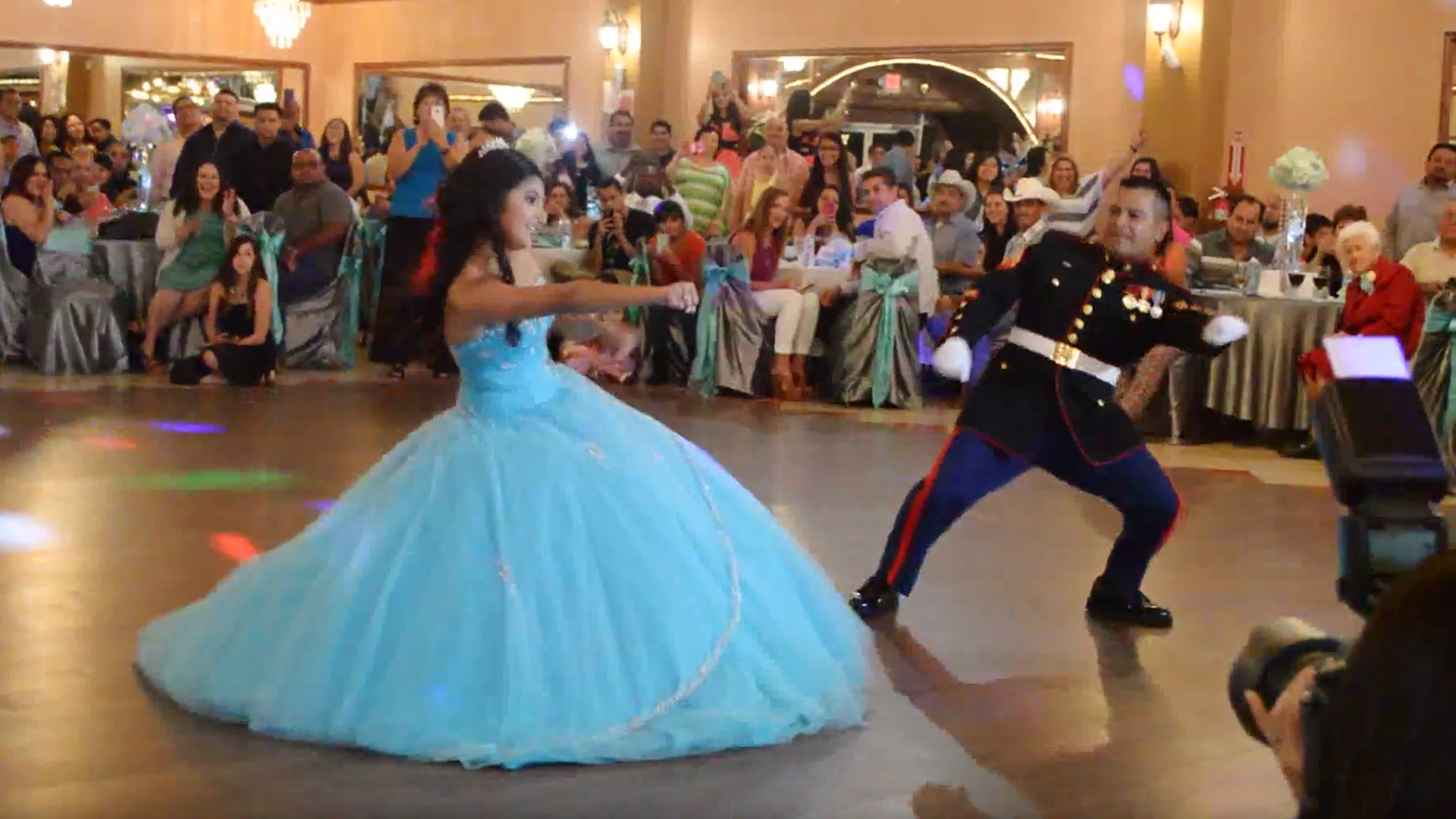 294b7602d52 Girl s epic dance with dad is highlight of her quinceanera