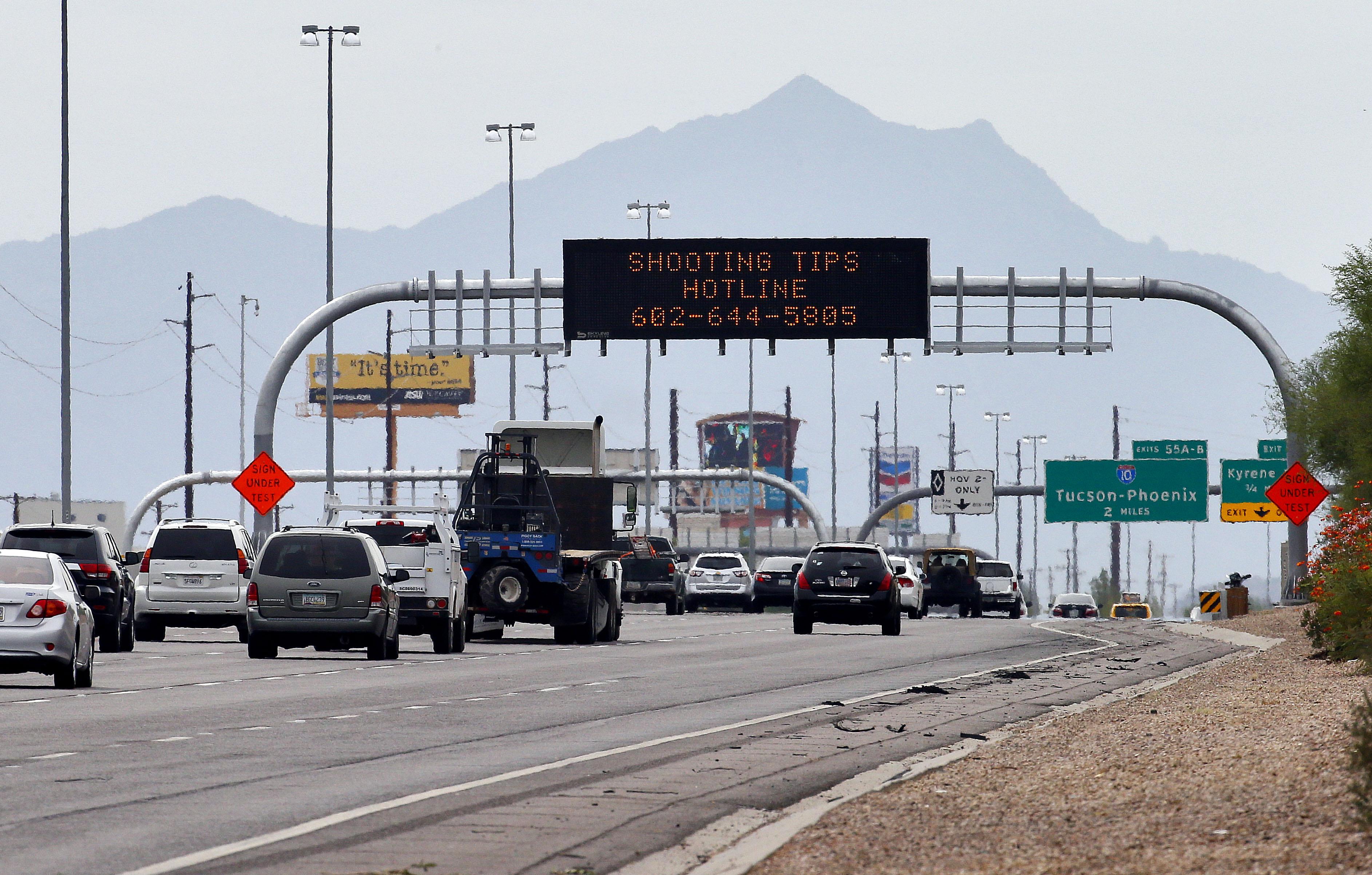 Map Of Arizona Freeway Shootings.Phoenix Sniper Strikes Again Arizona Cops Confirm 11th Freeway Shooting