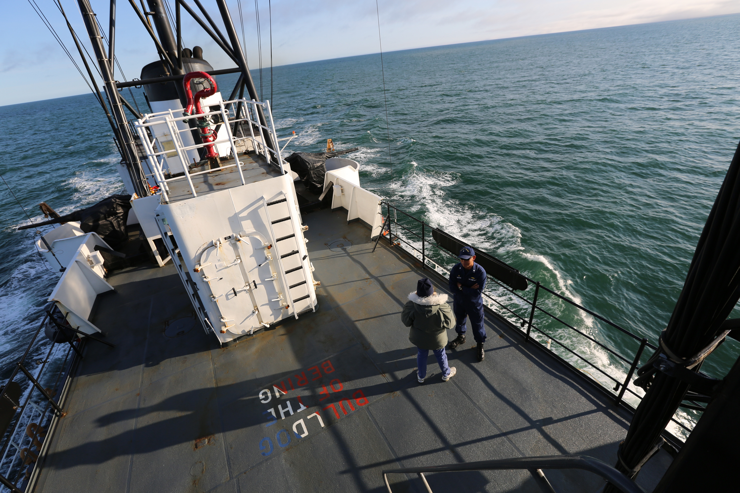 Image: NBC News joined the Coast Guard Cutter Alex Haley on patrol in the Arctic.