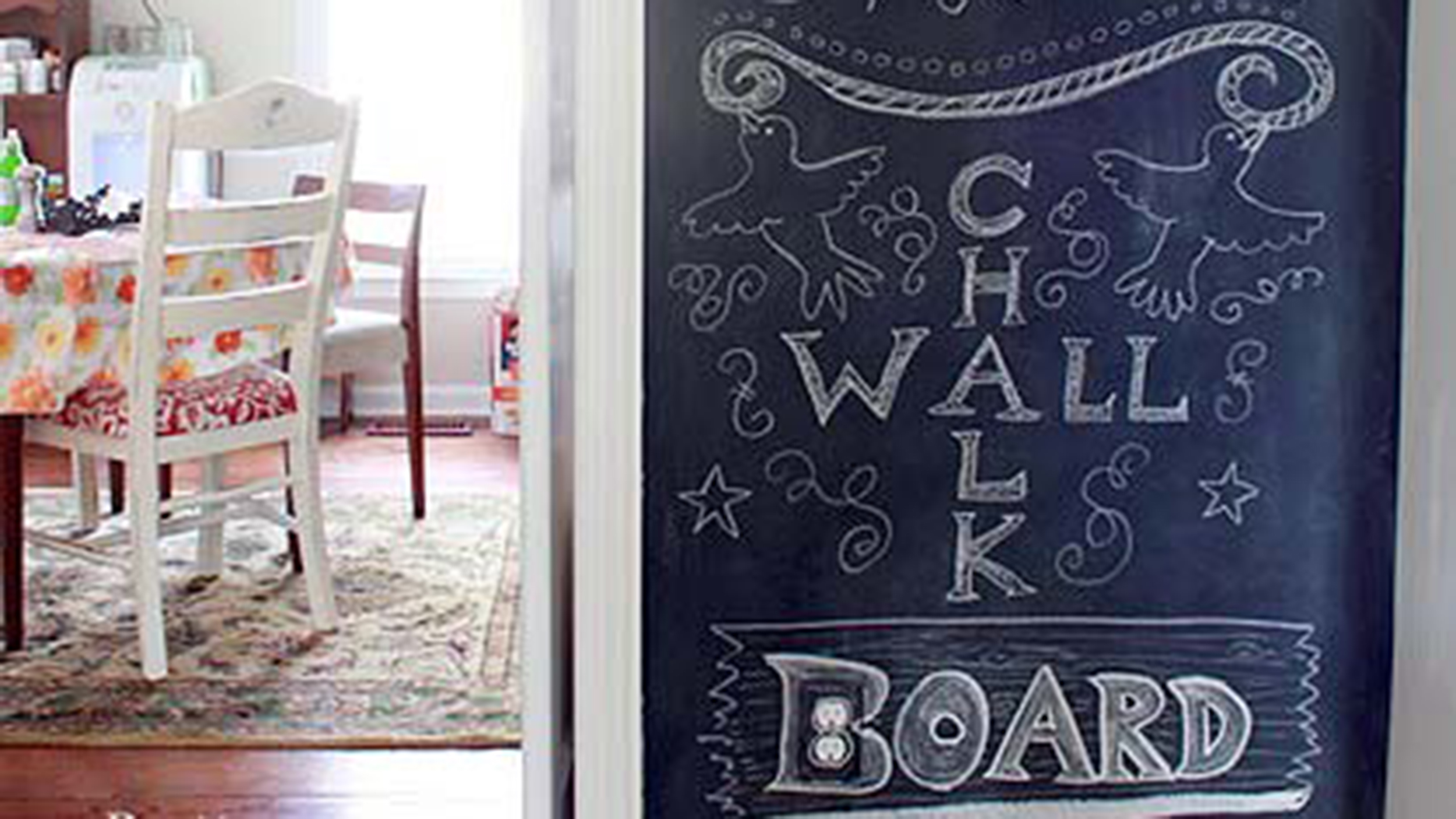diy chalkboard wall what you need to know. Black Bedroom Furniture Sets. Home Design Ideas