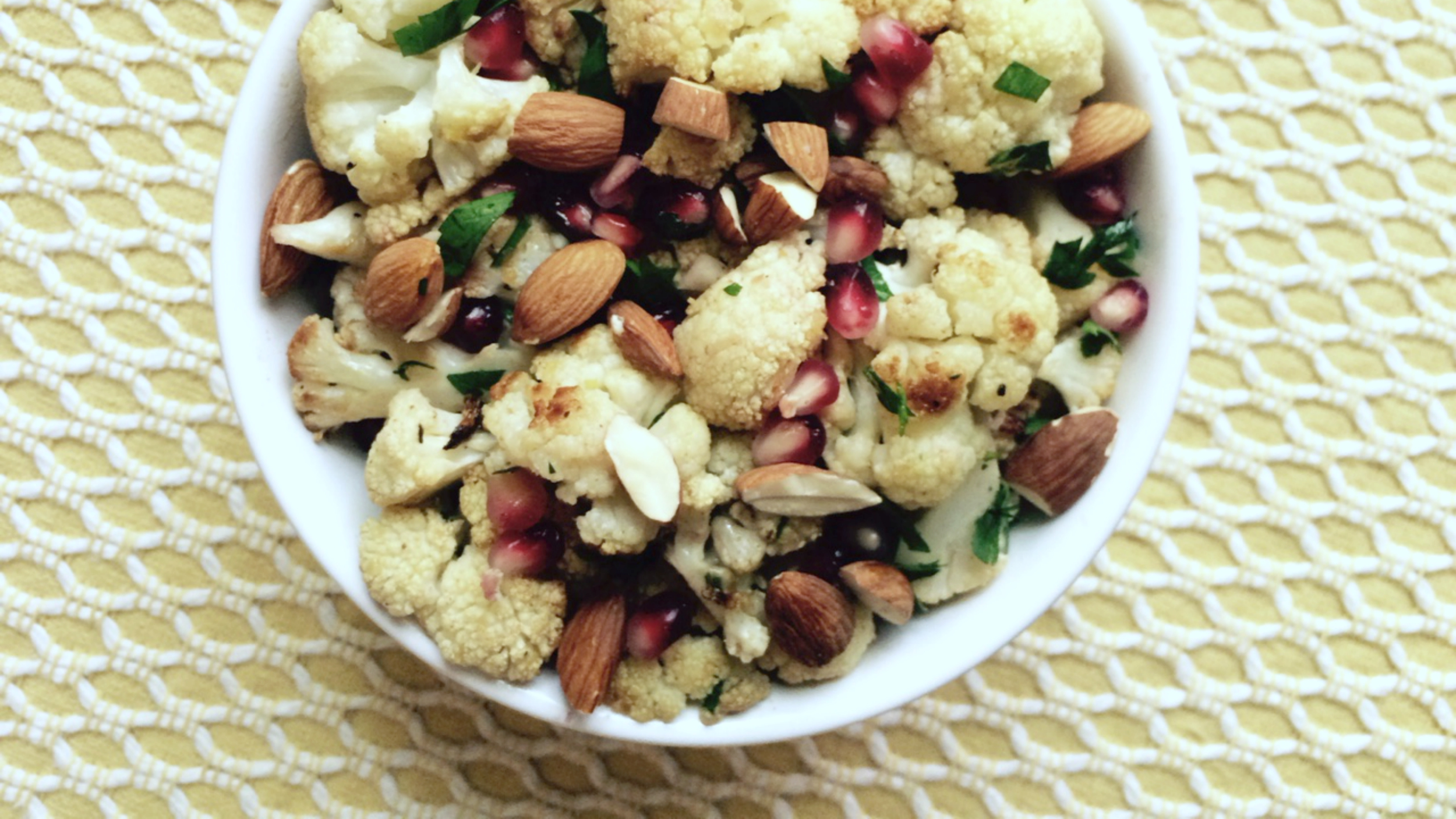 Cumin-Roasted Cauliflower with Lemon, Pomegranate and ...