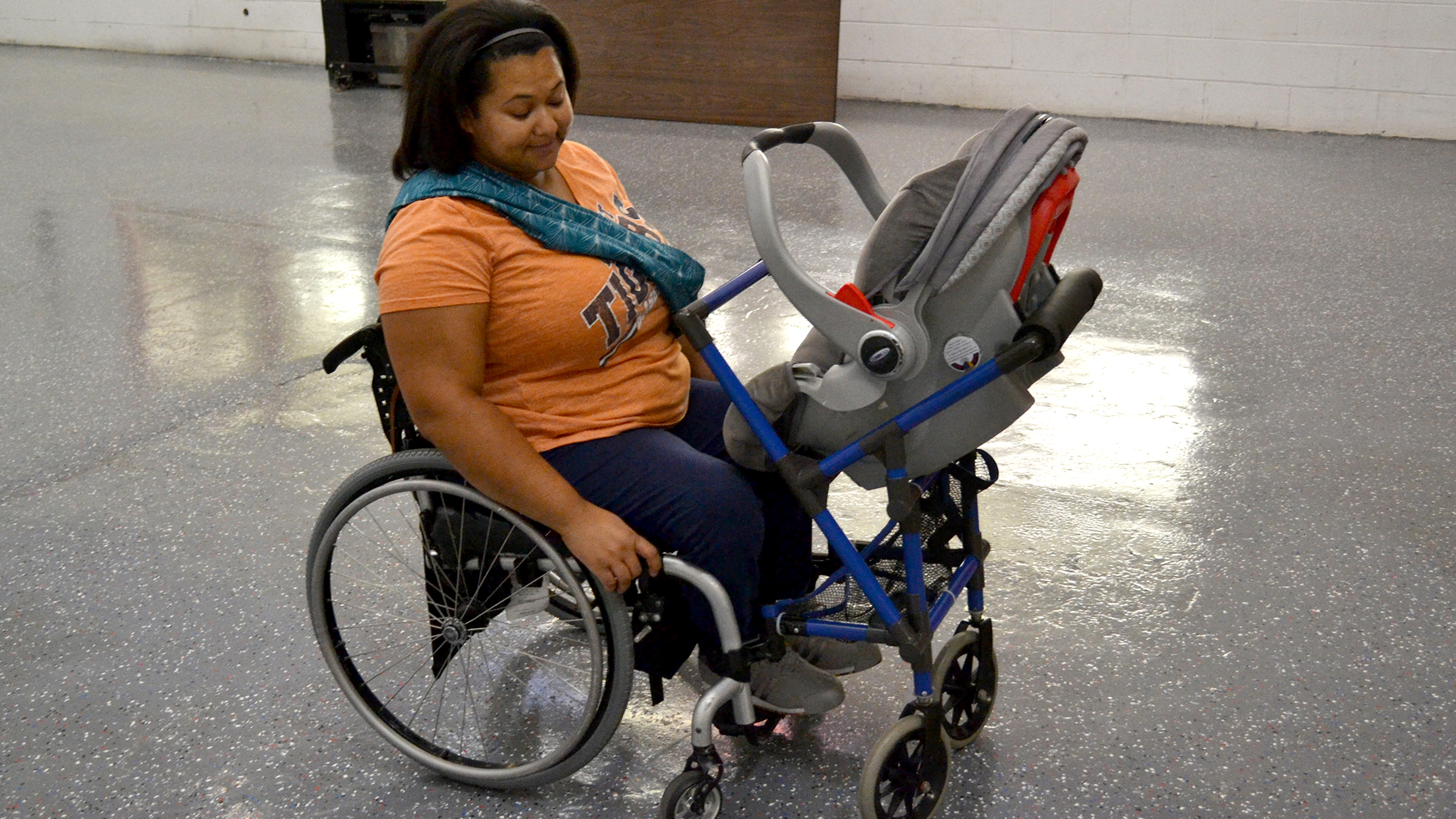 Mom Takes Baby For Walks With Special Wheelchair Stroller