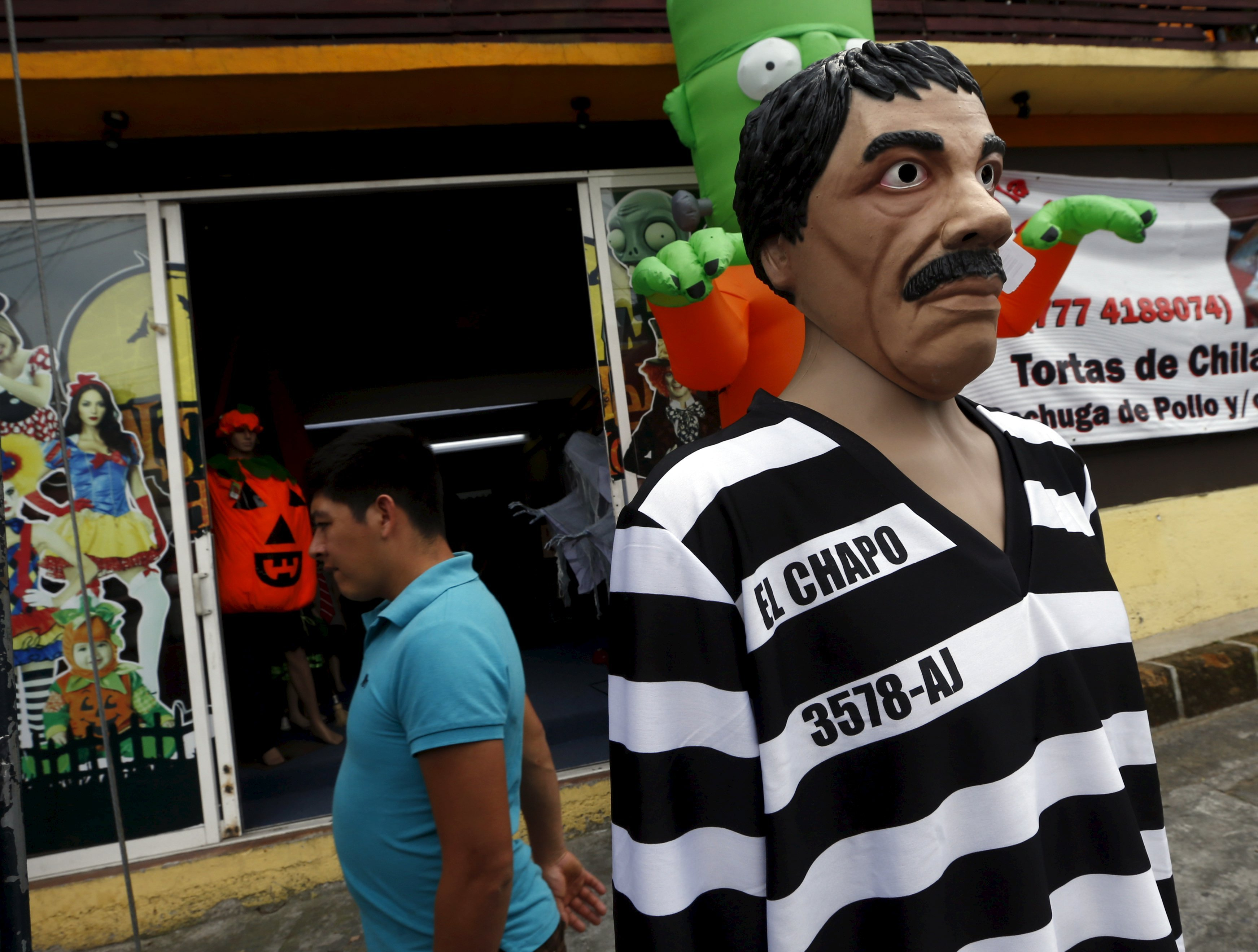 trick or treat, el chapo's here: drug kingpin's costume can be yours