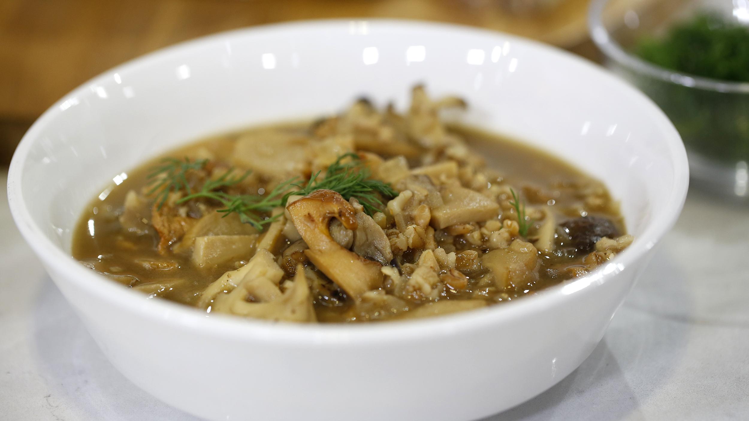 Warm up with Martha Stewart's farro-mushroom soup - TODAY.com