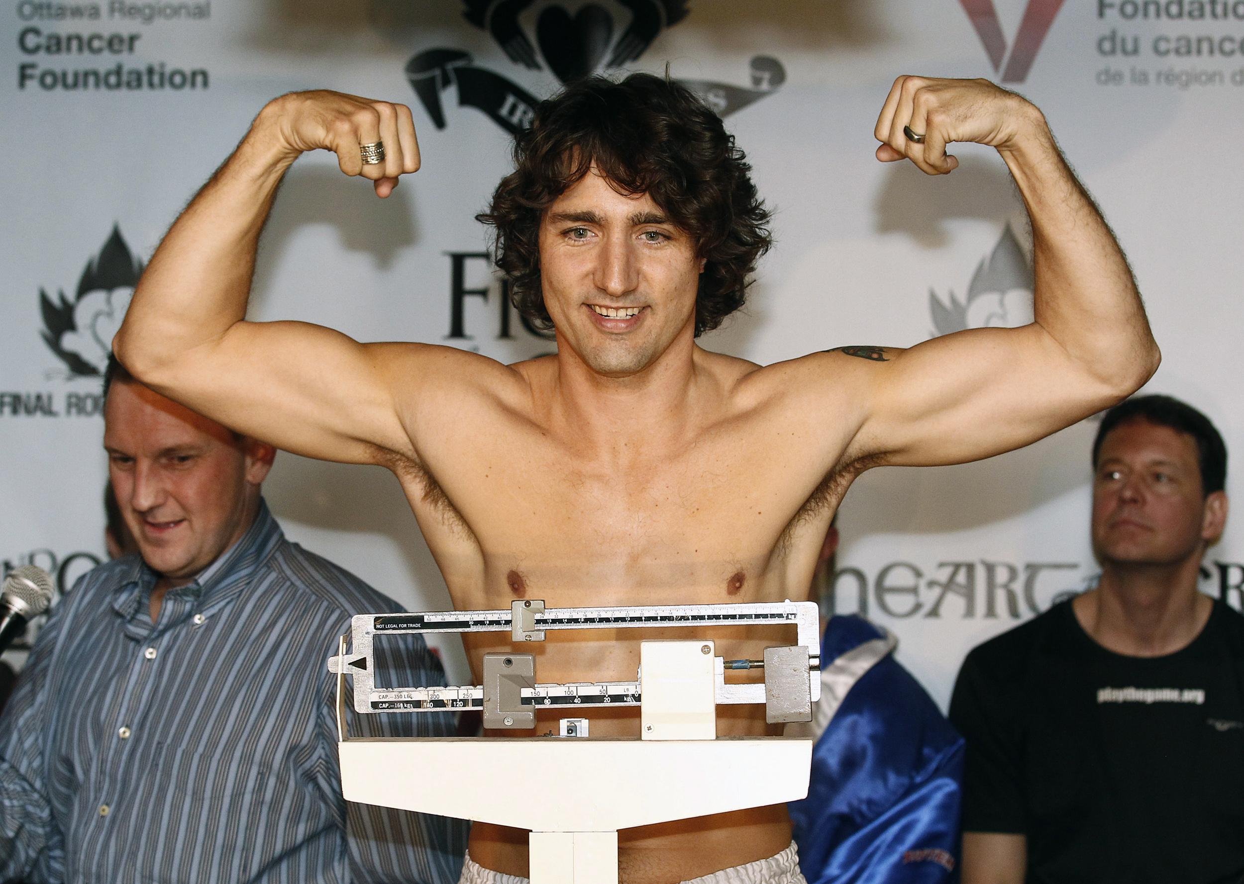 Image result for canada prime minister justin trudeau wrestler