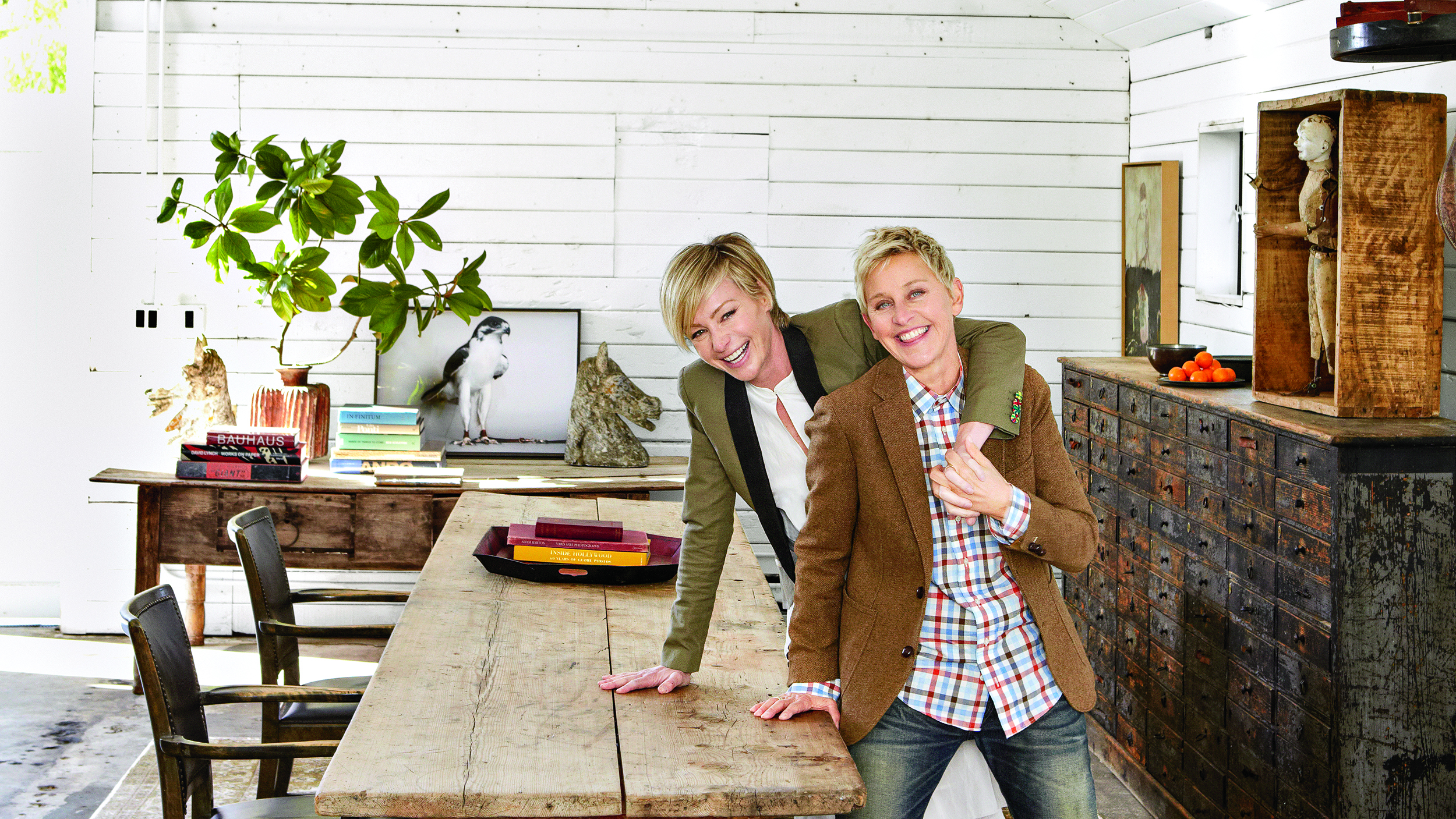 Ellen degeneres gives tour of horse ranch in 39 home 39 book Home interior book