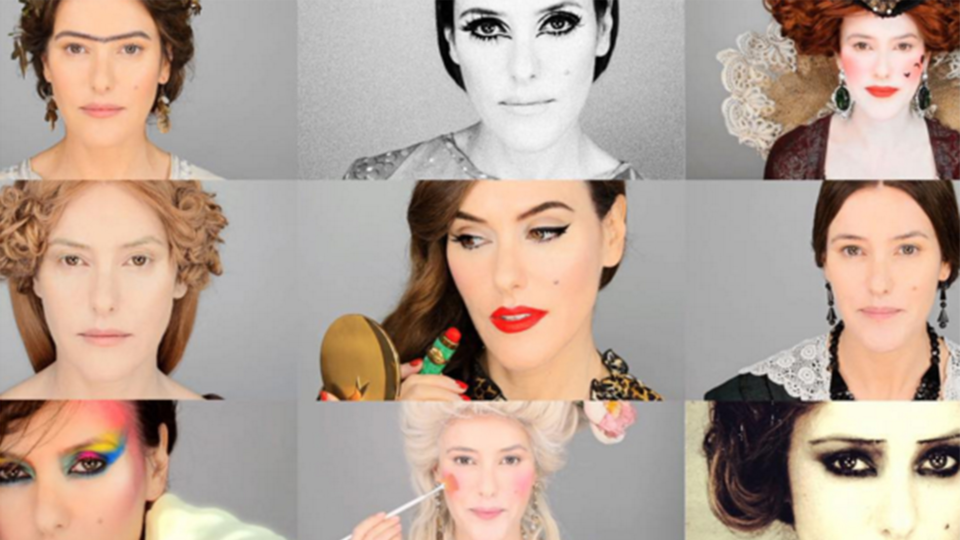 Makeup Artist Lisa Eldridge Re-Creates Every Historic Beauty Moment in Under 7Minutes