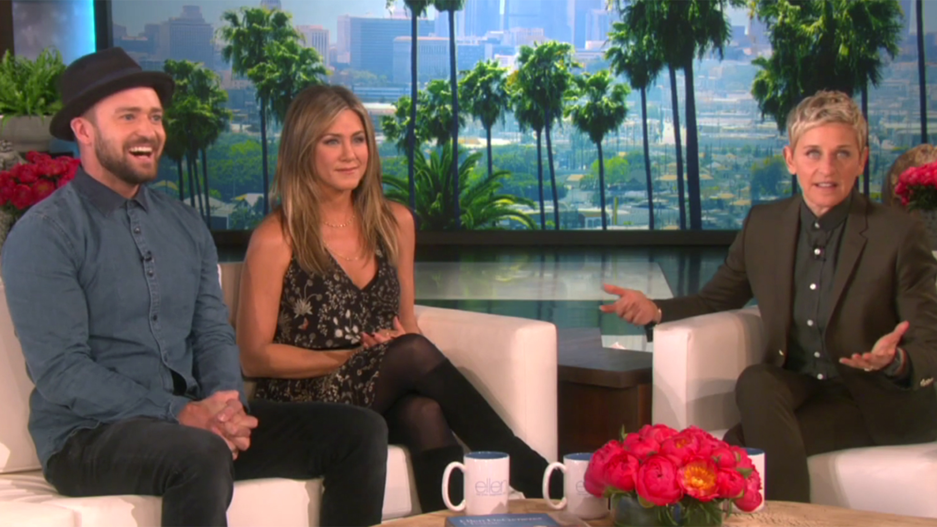 Jennifer aniston justin timberlake surprise ellen degeneres on her 2 000th show - Ellen show videos ...