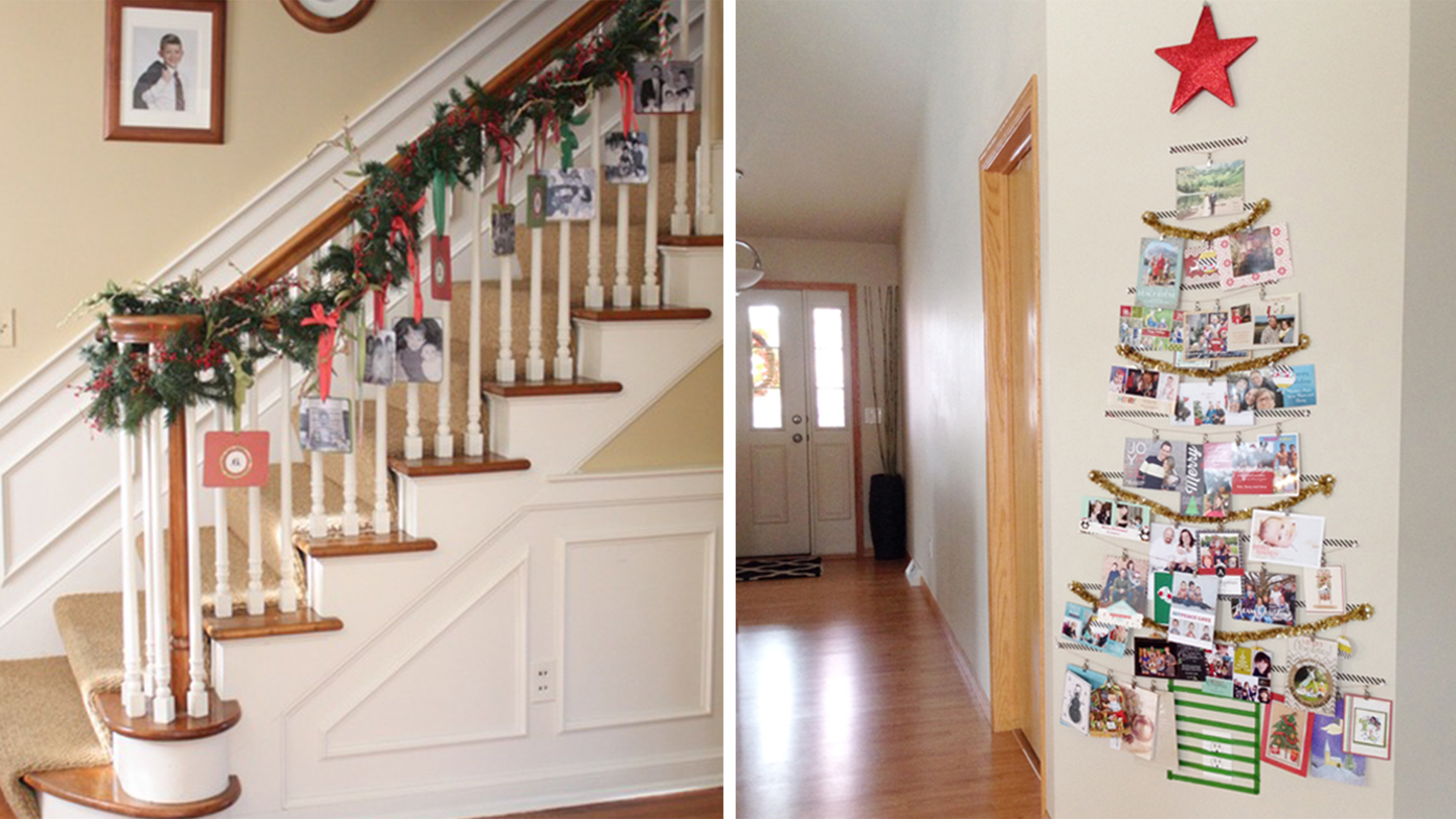 7 pretty (and easy!) ways to display holiday cards