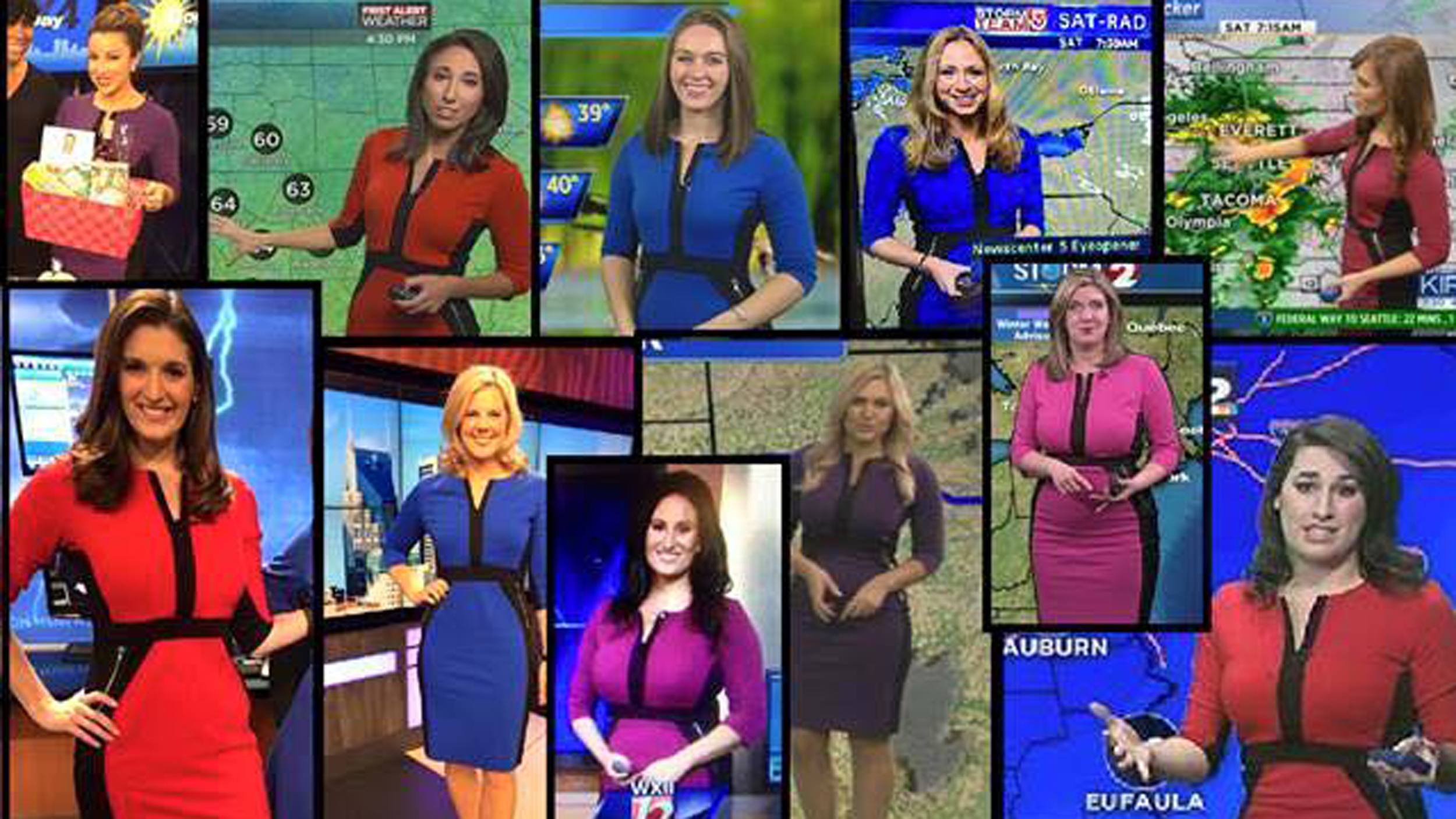Basically Every Female Meteorologist Is Wearing the Same Dress and ...