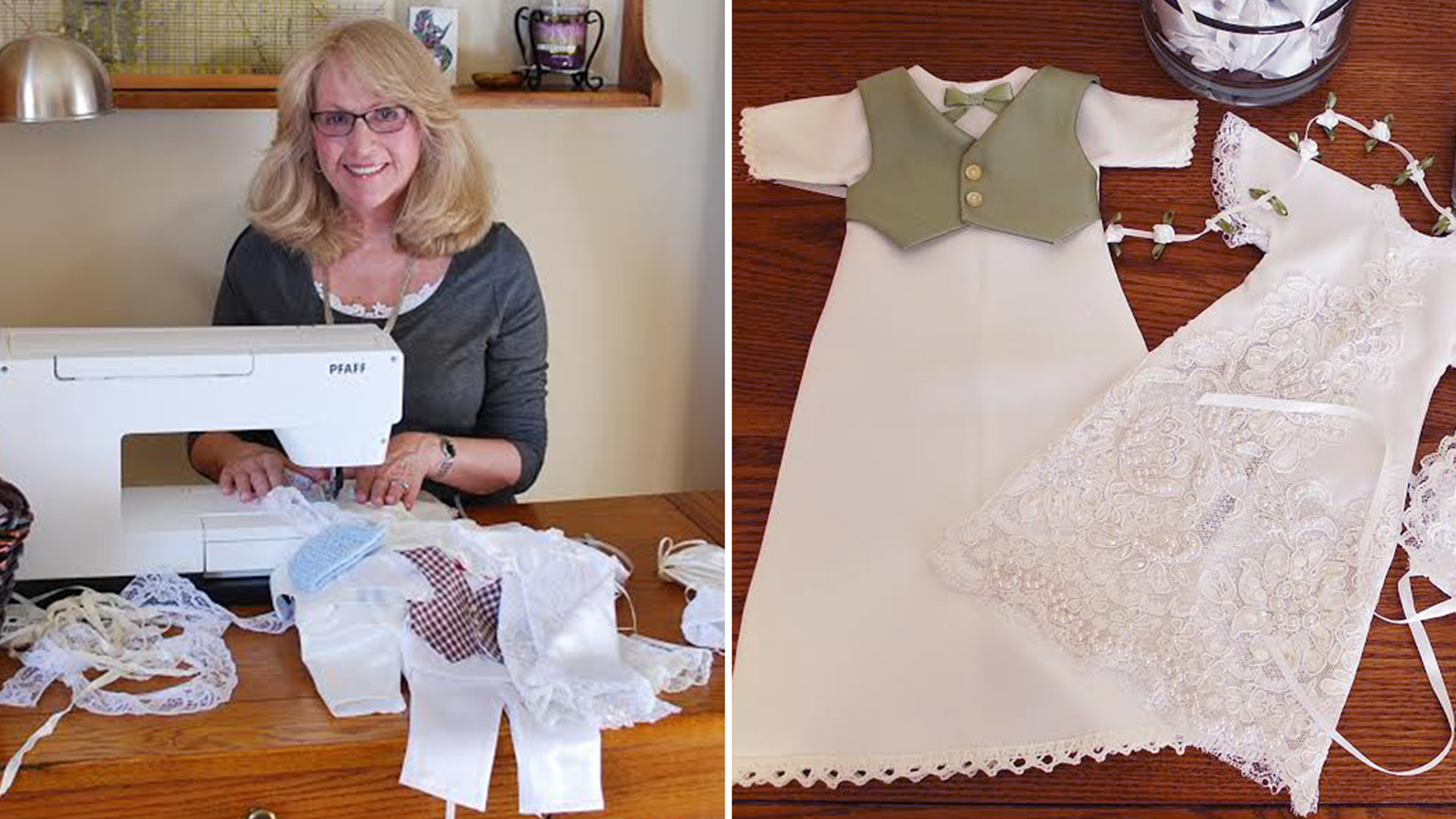 Woman\'s company crafts baby burial gowns out of wedding dresses