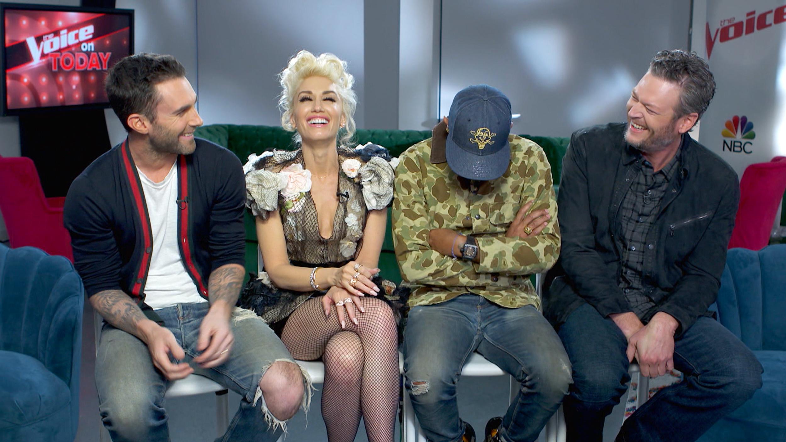'Voice' coaches dance around topic of Gwen Stefani and Blake Shelton's romance