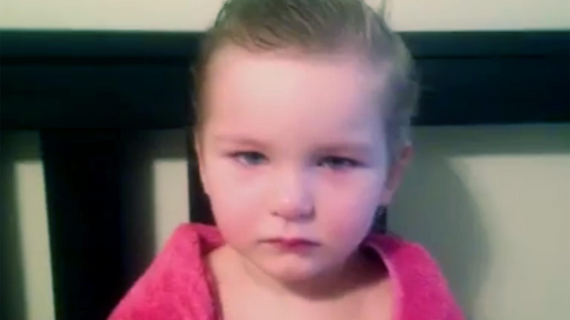 Kid haircut: 3-year-old cuts her own hair, cuteness ensues