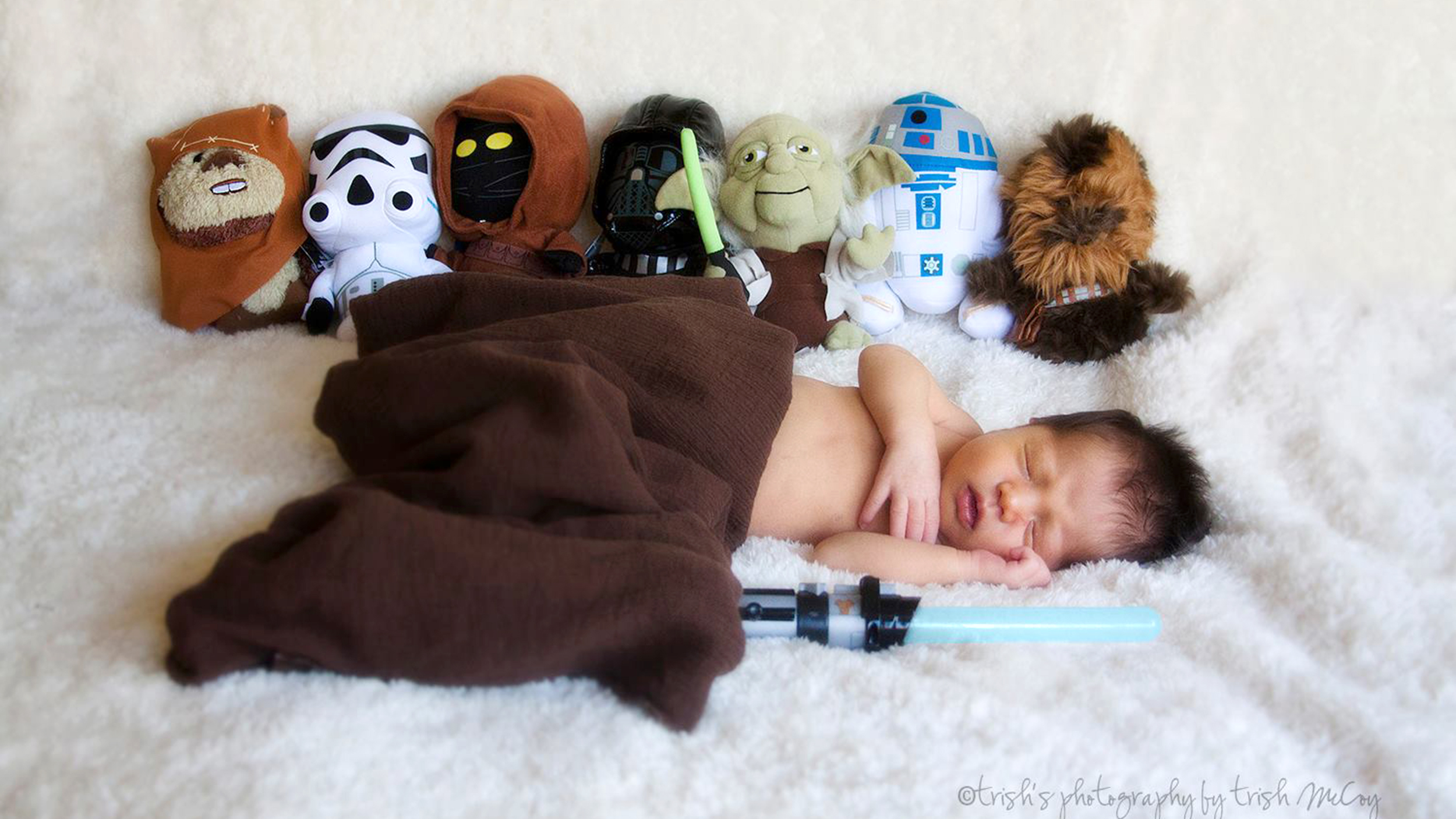Miracle baby is out of this world cute in star wars themed photos
