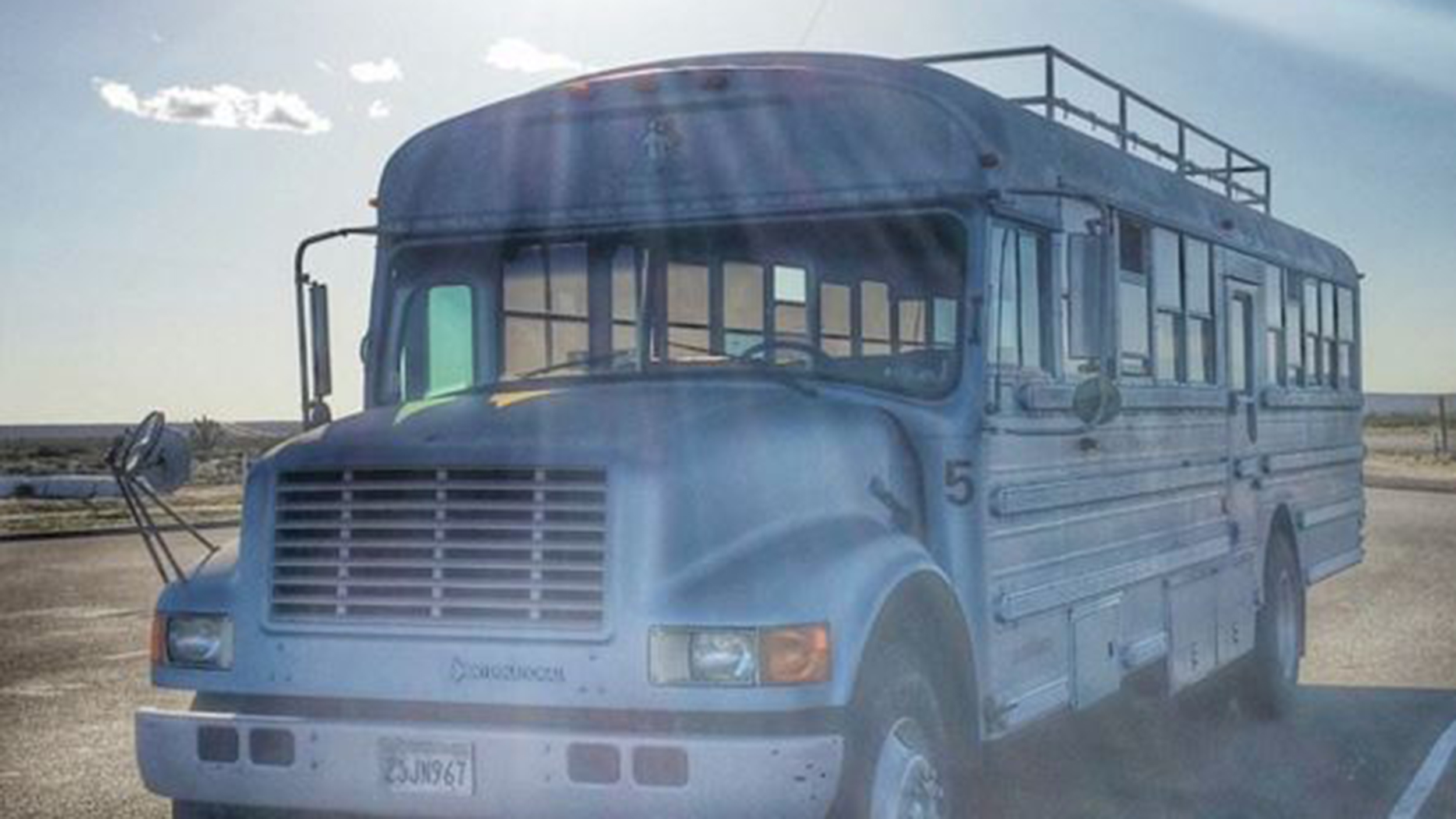 On the road! Man converts 189-square-foot school bus into a home — see inside
